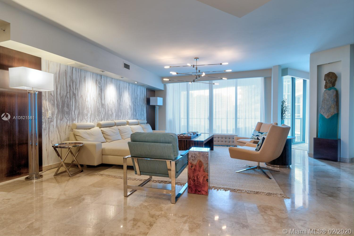 LUXURIOUS & SOPHISTICATED CUSTOMIZED COLUMBUS MODEL. ELEGANT TWO BEDROOM, THREE BATHROOM RESIDENCES WITH A PRIVATE ENTRY ON THE 29TH FLOOR. NO EXPENSE WAS SPARED,MARBLE FLOORS THROUGHOUT, NEW BATHROOMS, CUSTOM CLOSETS WITH A WET BAR WITH ONYX INLAID. THERE ARE TWO TERRACES ONE LARGE ONE OFF THE LIVING ROOM TO EAT AND RELAX. YOU COULD NOT FIND A BETTER UNIT FOR ENTERTAINING. THIS CONDO BY RIVERWALK PROVIDES THE BEST OF DOWNTOWN LIVING AS YOU CAN WALK TO ALL THE RESTAURANTS AND SHOPS ON LOS OLAS BLVD. GORGEOUS POOL DECK, GARDENS AND BBQ AREA. MOVE IN READY! INVESTORS WELCOME