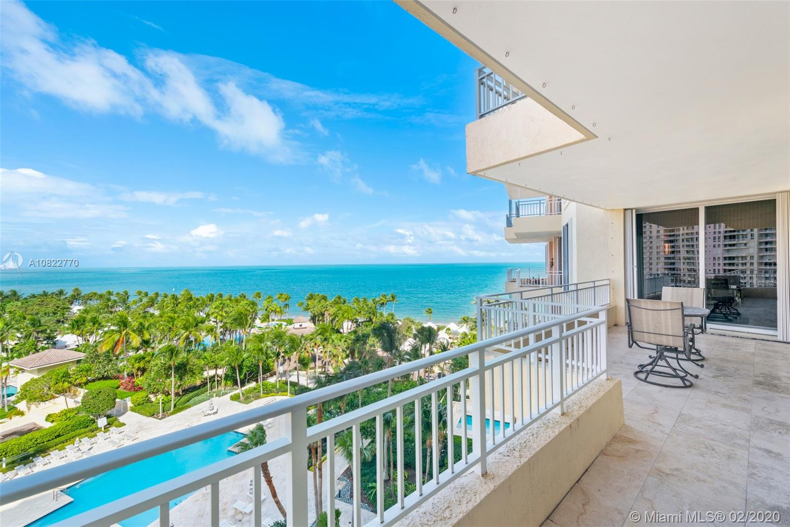 """Incredible floor plan and sought after """"E"""" model unit with 3,581 Sq Ft under A/C.  This is the perfect height where you can enjoy the breathtaking views of the ocean and bay plus all the garden views Ocean Club has to offer with terraces on both sides.  4 bedrooms plus staff quarters and 4 ½ bathrooms make this a perfect home for any family.  Indulge in the lifestyle where you are steps away from the beach, have access to tennis courts, pools, gym, spa, children's playground, concierge, security, valet service and so much more.  Easy to show."""