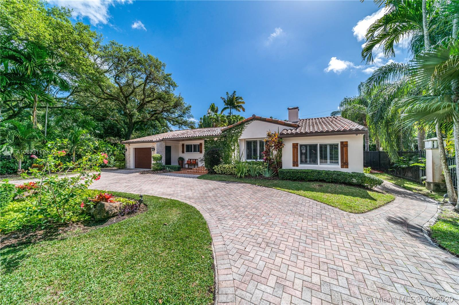 Spectacular Home centrally located in the heart of Coral Gables! Architecturally inspired Merrick home sits next to the historic Merrick gables house. Built in 1936 the home is unique! Very bright with a great layout..4-bedroom,4 bath & a 1 car garage! Only one block from the famed Granada golf course, a few blocks from the Biltmore & Venetian pool & minutes away from the gables downtown! Drive up to a private gate, brick pavers, barrel tile roof, impact windows & professionally done landscaping!! On the inside you'll find original pine wood floors & travertine tiles, fire place, exposed wood ceiling, plantation blinds, updated kitchen & bathrooms! Spacious split-level floor plan w/large rooms w/California closets! Wonderful backyard for entertaining & grilling with a 10 ft deep pool!