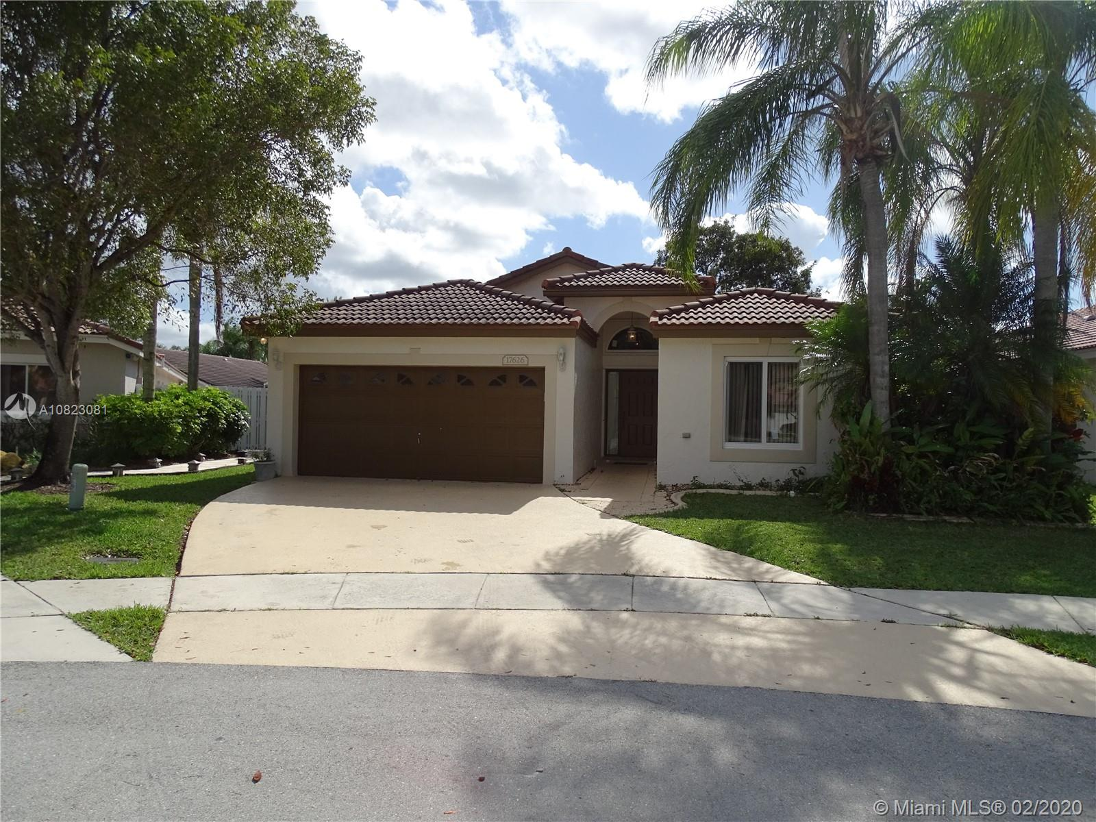 17626 SW 10th St  For Sale A10823081, FL