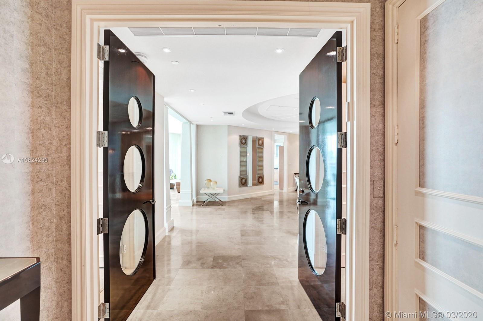 Can I brag?Resplendent views on a daily basis will greet you from this impressive four bedroom 6 bathroom home in the sky. High Ceilings, upgraded kitchen, and a full housekeeper's suite will impress even the pickiest of buyer's. Views of Miami's skyline, Miami's famous sunsets and endless ocean views are the choice views to have and to hold.The terrace that is outside the master bath is one of my FAVORITE things about this stunning condo. Imagine putting on face mask at the end of the day, grabbing either a chamomile tea or a glass of wine, and sitting on the balcony right outside your bathroom and taking in the sunset. Truly and experience to come home to at the end of a hard day's work or a great golf game. AND, did I say you have the most wonderful spa services here in Porto Vita?