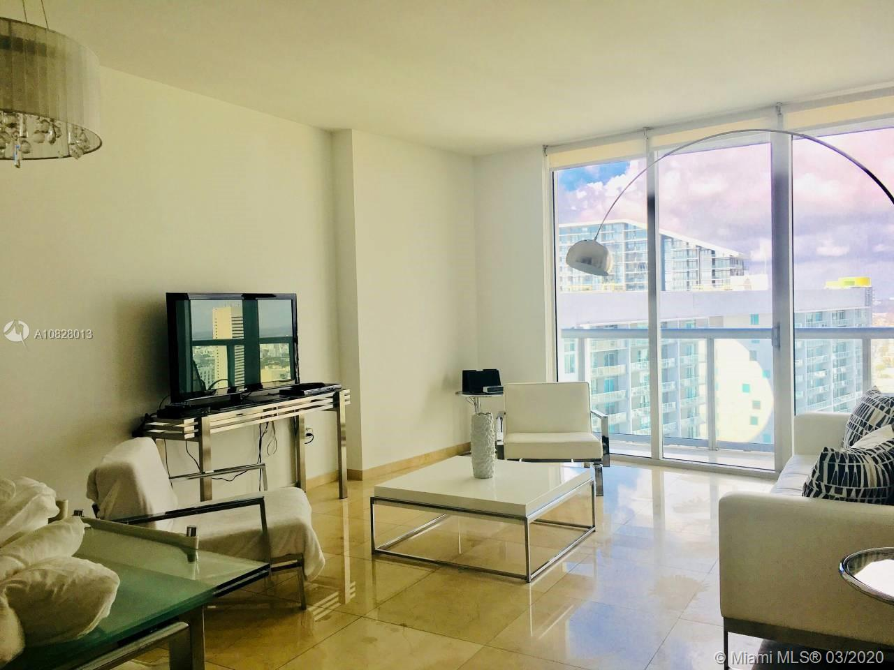 Icon Brickell W tower, Beautiful high floor unit fully furnished with porcelain floors. Sub-zero/ wolf kitchen appliances package. European kitchen, with city and river views, state of art spa and gym, restaurants, infinity edge pools, billboard room, party room, concierge, valet. Perfect for investors with daily rentals and Airbnb allowed.