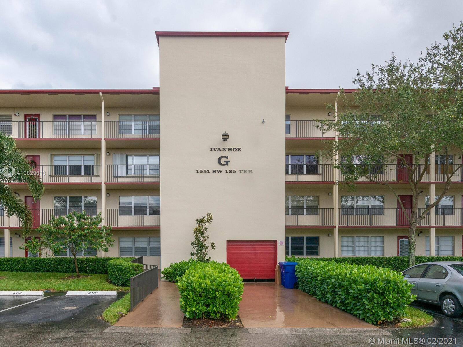 1551 SW 135th Ter #207G For Sale A10829610, FL