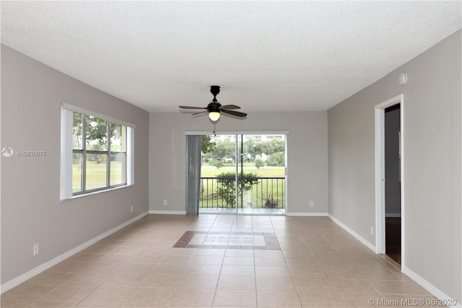 GORGEOUS REMOLDED 2 BEDROOM / 2 BATHROOM CORNER UNIT ON FIRST FLOOR WITH OVER LOOKING GOLF COURSE FULL OF NATURAL LIGHT.SPLIT PLAN 2 SPECIOUS BEDROOM. 2 FULL REMODELED BATHROOM AND HUGE WALKING CLOSET IN MASTER.NEW KITCHEN WITH GRANITE COUNTER TOP ON HARD WOOD CABINET WITH NEW STAINLESS STEAL APPLIANCES.NEW WATER HEATER NEWLY A/C INSTALLED 2015. NEW BLINDS. FRESHLY PAINTED MAKE UNIT AS YOUR GREAT NEXT HOME.OPEN SCREENED PATIO FACE TO GOLF COURT WITH PANORAMIC VIEW.ALL AGES COMMUNITY WITH GREAT AMENITIES SUCH AS POOL, LAUNDRY FACILITY AND EXTRA STORAGE SPACE IN SAME FLOOR.WATER, CABLE,TRASH REMOVAL,PEST CONTROL,SECURITY WITH 24 HOURS GUARD AT THE GATE. . HURRY WON'T LAST!