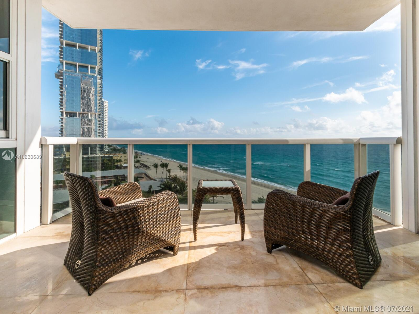 Beautiful Unit 3 Bedroom with 3/1 Bathroom (is now rented march from 25/2021 to march 24/2022 )and state of the amazing amenities includes Tennis -Pool -Gated entrance- concierge services- Location across shops and restaurant. Luxury Tower in exclusive Sunny Isles Beach Community.. Private elevator entry. Fabulous amenities including beach and pool service, rooftop jacuzzi, spa, gym , cafe , tennis courts and valet. Closet Cabinetry, CookingIsland, Custom Mirrors, fire Sprinklers, Pantry Parking, Detector, wall over, washer, high impact door, open balcony, activity room exercise room, guard at gate, child play area,sauna, spa/hot tub.