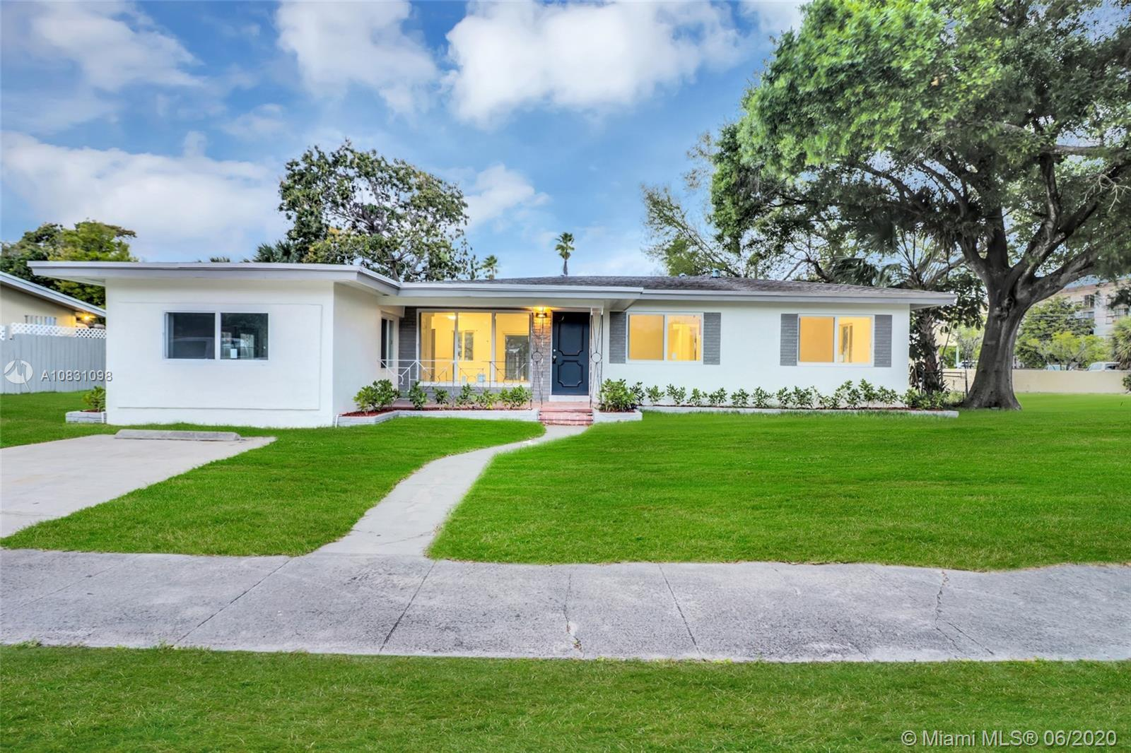 Welcome home to this 4 bedroom, 2 bath beauty in a charming neighborhood! Fully remodeled Wilton Manors home that features marble and wood ceramic floors, new solid wood kitchen cabinets with all new stainless steel appliances, new water heater, and new washer & dryer. All new drywall inside plus impact windows throughout. This home features an open and spacious floor plan with tons of natural light. Cozy backyard perfect for entertaining with all new grass , landscaping, and sprinkler system. Centrally located near schools, shopping, dinning, entertainment, and just a short drive to the beach. Easy to show. Call today!