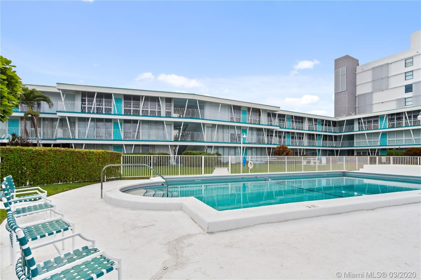 Excellent Opportunity to Own in Bay Harbor Islands.  Boutique Building situated on Intracoastal.  Unit offers Two Bedrooms, Two Baths with Beautiful Views of the Garden, Pool and Intracoastal.  Walk to Bal Harbour Shops and Restaurants.  Beach is just blocks away.  Dock space is Available for Unit Owners.  Enjoy the peace and tranquility this property affords.  Furniture is Included in the Sale with the Exception of Computers and ALL Art Work in the Apartment.