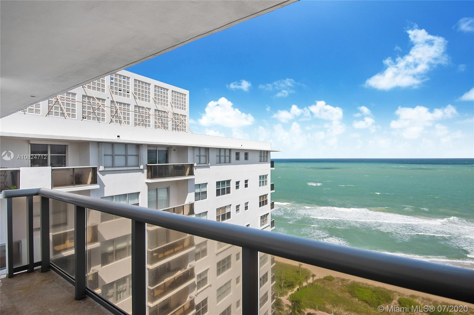 Spectacular spacious Pent House with panoramic ocean views from every room with direct beach access in the heart of Miami Beach * 5 minutes to South Beach and 15 minutes to Wynnewood * 2 units converted into one spacious 2023 Sq. Ft. Unit * A true palace in the sky * Luxuriously and totally remodeled with beautiful white marble floors, 2 balconies, incredible new open kitchen with top of the line appliances, 2 freezers, wine cooler, double oven and more * Large master bedroom with 2 walk in closets and huge master bath with tub & shower * Living room and dining area make a  fabulous entertaining space * 2 extra storage spaces * Extra room for den, office or maid's quarters *  24 Hr. Security *Valet Parking *Concierge * BBQ Area * Convenience Store,gym, playground, game room and more!