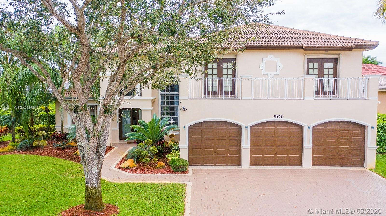 15958 SW 6th St  For Sale A10829660, FL