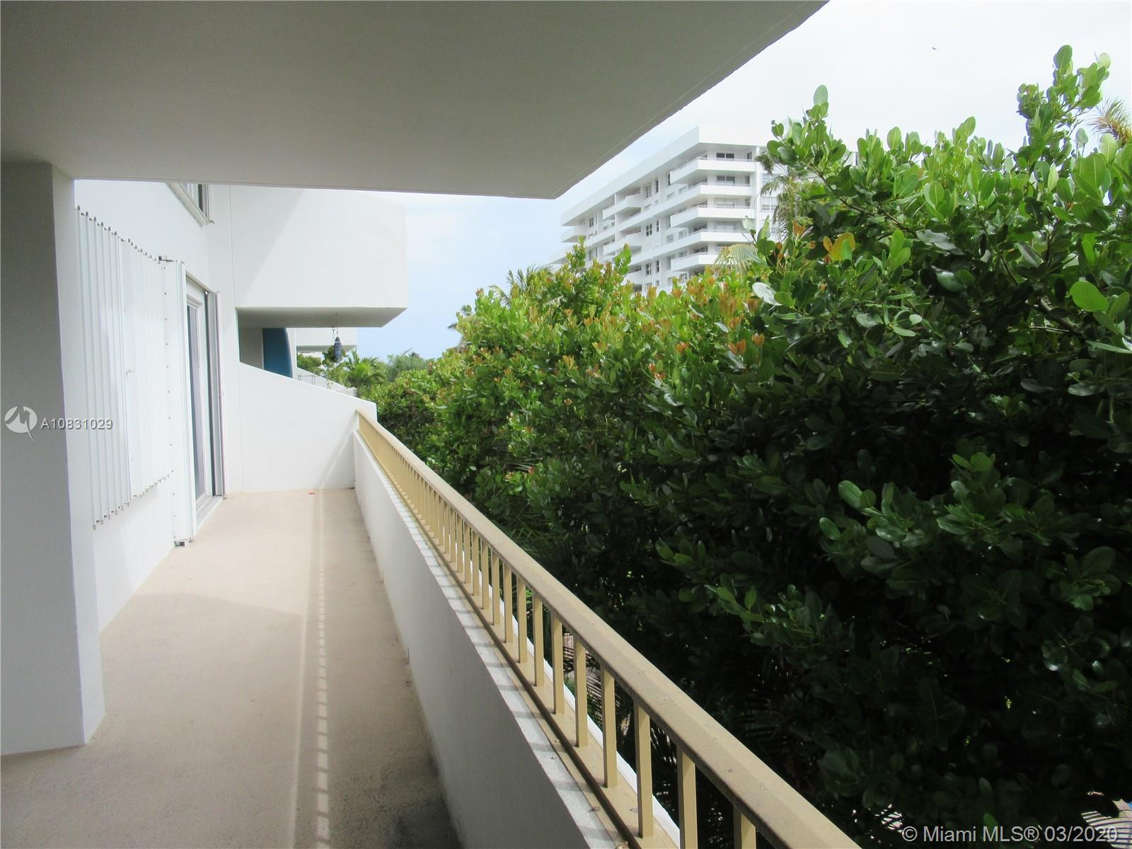 SOUTH SIDE Unit With Long Terrace, Which Runs The Full Width Of The Apartment.    Tropical View Over Gardens With A Peek Of The Ocean & Pool!    Kitchen And Bathrooms Have Been Updated!    Plenty Of Light & Sunshine!    Priced To Sell!