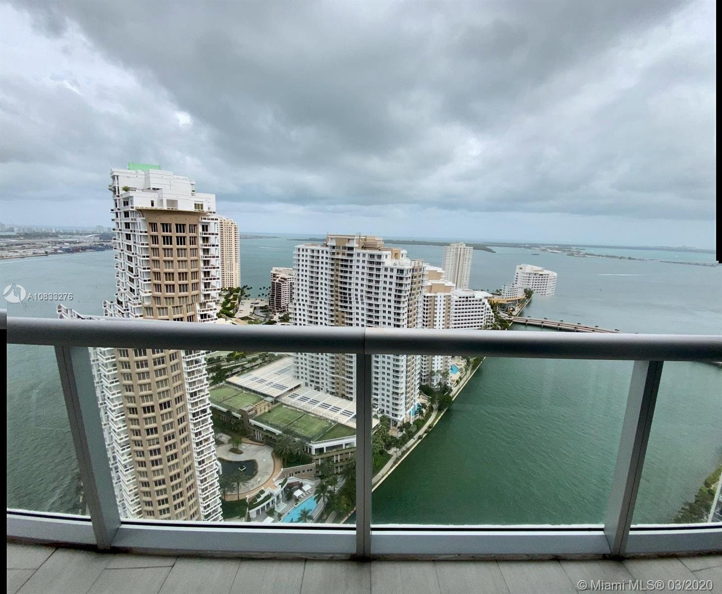 Gorgeous corner unit in  the the best line at Icon Brickell Tower 1 * Amazing water view * Unit remodeled with many designer upgrades * Hidden door thru wood panel * Beautiful stonewalls * customized closet * Ambient lighting system, Digital A/C, Motorized blinds and curtains and sound  under  smart IPAD control * New, elegant and stripped furniture available to be negotiate. 