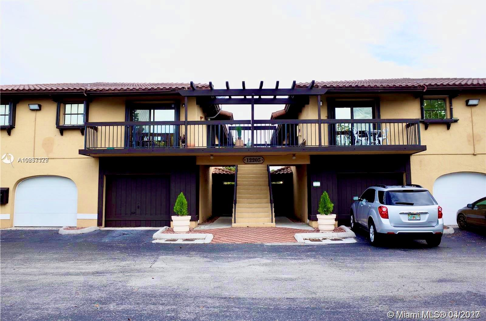 2 bedroom 2 bathroom Condo including Garage and 2 parking spaces. Fully tiled with stainless steel appliances, wood cabinets, marble baths, walk in closet, laundry room and accordion shutters. Located in the highly sought after private community Paseos Castellanos. Close to FIU, shops, restaurants and major highways. Pet friendly, close to parks.