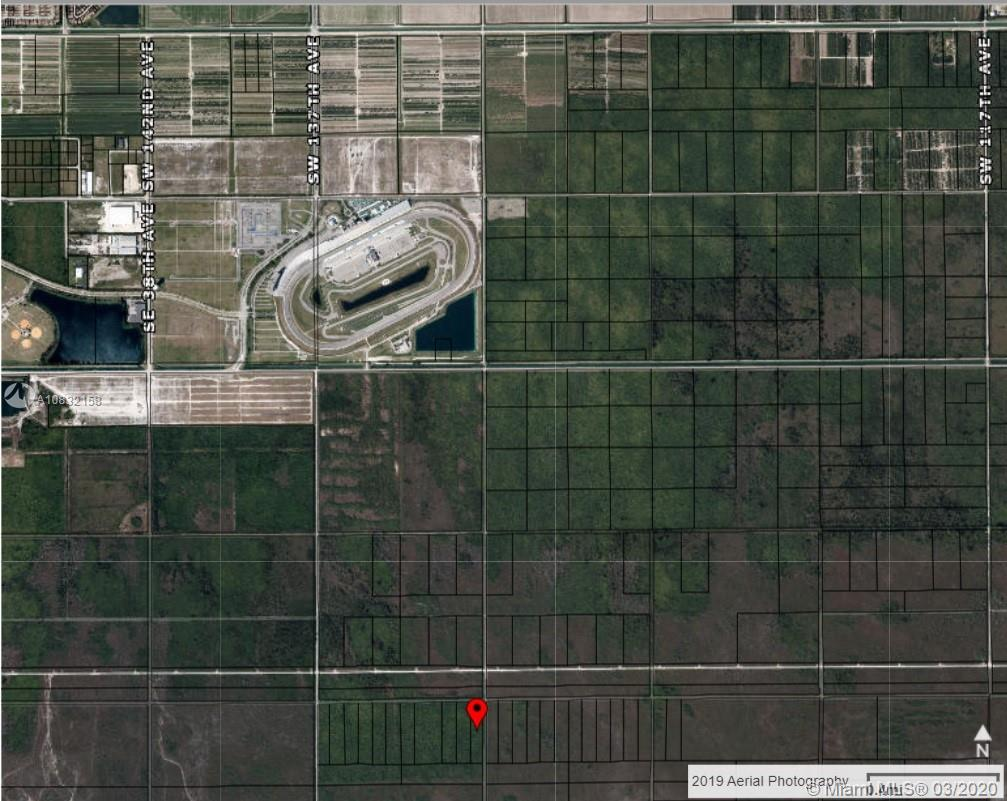 HOMESTEAD PRIME PRIME PROPERTY! 5 ACRES OF VACANT LAND NEAR HOMESTEAD SPEEDWAY. MIAMI-DADE ZONING ALLOWS TO BUILD 2 STRUCTURES; 1 RESIDENTIAL PROPERTY and 1 GUEST PROPERTY, PLUS CULTIVATE FOR AGRICULTURE USE. GREAT INVESTMENT OPPORTUNITY FOR INVESTORS AND DEVELOPERS.  ***GROW TODAY AND POTENTIALLY BUILD TOMORROW****  Interested parties please contact Listing Agent for additional details, spot visit and further negotiations.