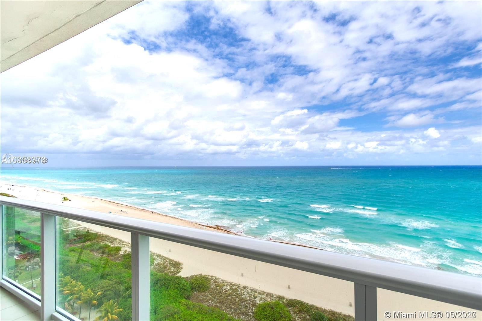 Enjoy the best beach Miami Beach w/direct ocean views from every room in this stunning completely remodeled high floor 2 bed/2 bad w/den. Master bedroom w/ king size bed, custom built-in closet, Flat TV screen & full bathroom. 2nd bedroom with 2 beds, custom built-in closet and flat TV. Bonus room, Murphy bed. 2nd full bath whirpool bathtub. Unit can sleep up to 8. Modern new kitchen wood/white with huge counter top & backplash in Quartz.Unit features stainless steel appliances, porcelain tile & rollers black-outs. Private Gym 24 hours. 3 assigned garages. Special Assessment $287.37 until Oct 2028  & $241.92 until Dic 2025 by buyer. NEW IMPACT WINDOWS being installed now. Excellent for Short Term Rental 1 month or more. You can rent 12 times a year
