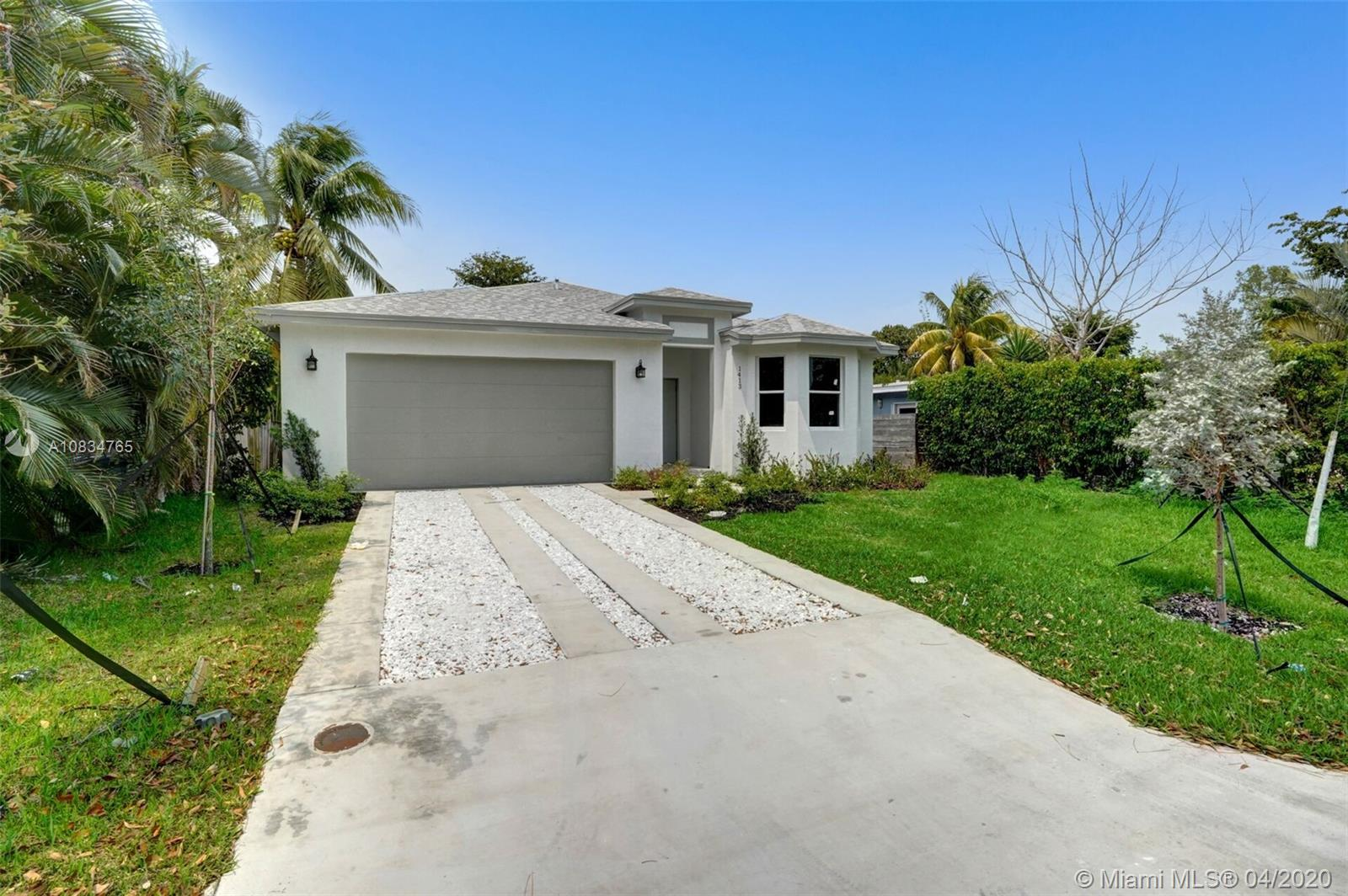 Brand new, never been used, gorgeous new construction turn-key house that includes 3 bedrooms + den, 2 bathrooms, 2 car garage, huge backyard, upgraded kitchen, stainless steel appliances, central air, and more! Master bedroom and bathroom are huge! Walk-in closets. Live in the heart of downtown Fort Lauderdale for an affordable price. Minutes walk from Wilton Manors, minutes drive to beach and major highways. Motivated seller - easy to show on lockbox. NOTE: Pictures on listing were taken before final touchups. New ones will be added soon.
