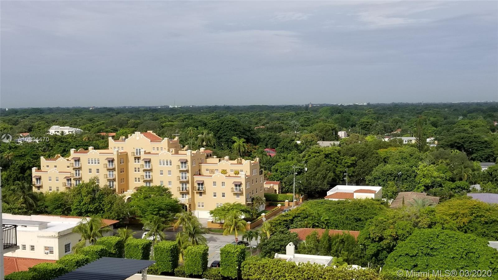 Unit Tenant occupied until May 31, 2020. Beautiful furnished Condo in the heart of Coral Gables conveniently located minutes away from Miracle Mile restaurants, shops and businesses, urban life as its best. Spacious unit offers 2 bedrooms and 2 baths, 2 parking spaces side by side. Amenities include Concierge, great room, fitness center, beautiful pool and lounge area. Unit furnished by TUI Lifestyle