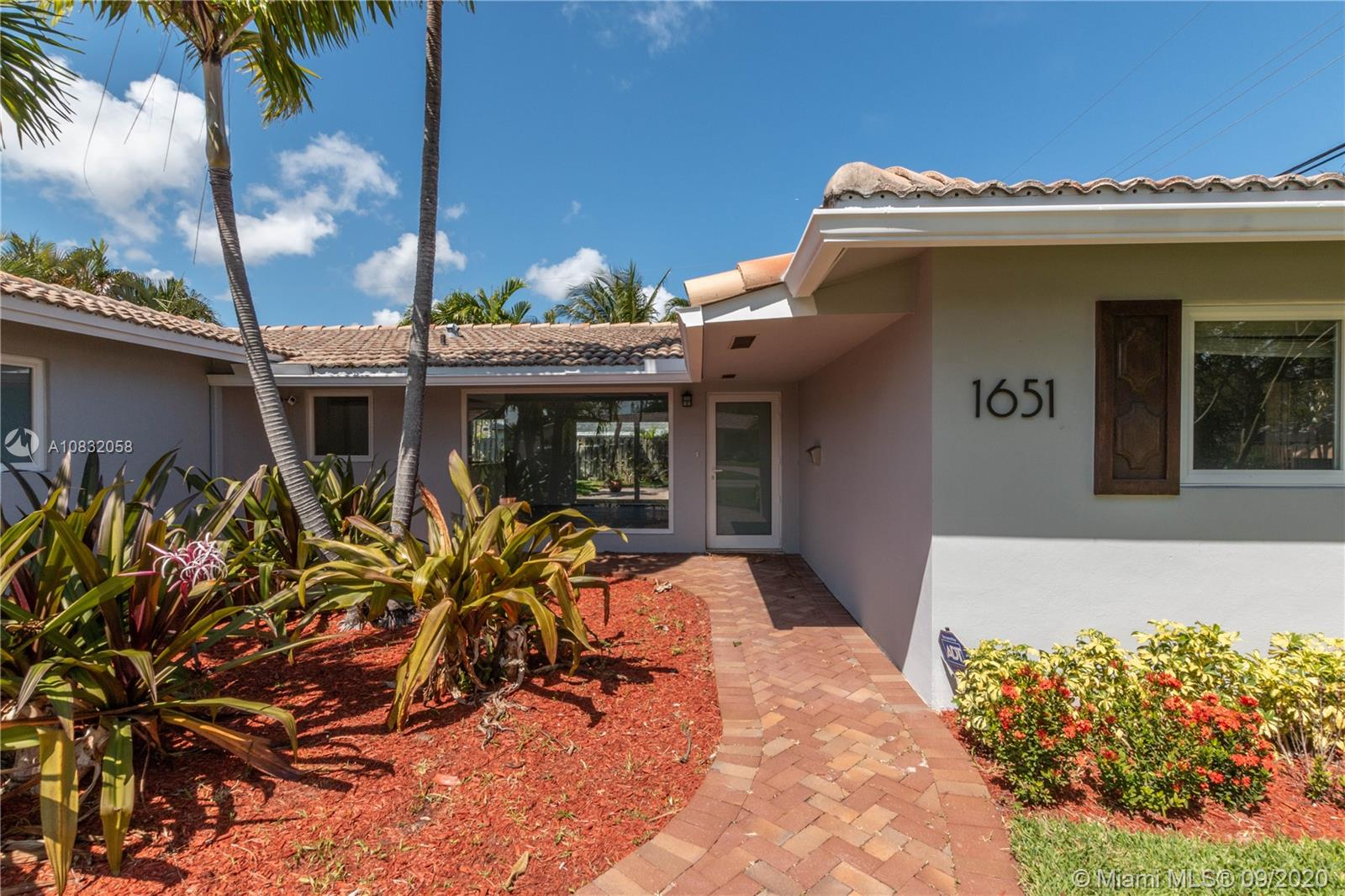 1651 NE 54th St  For Sale A10832058, FL