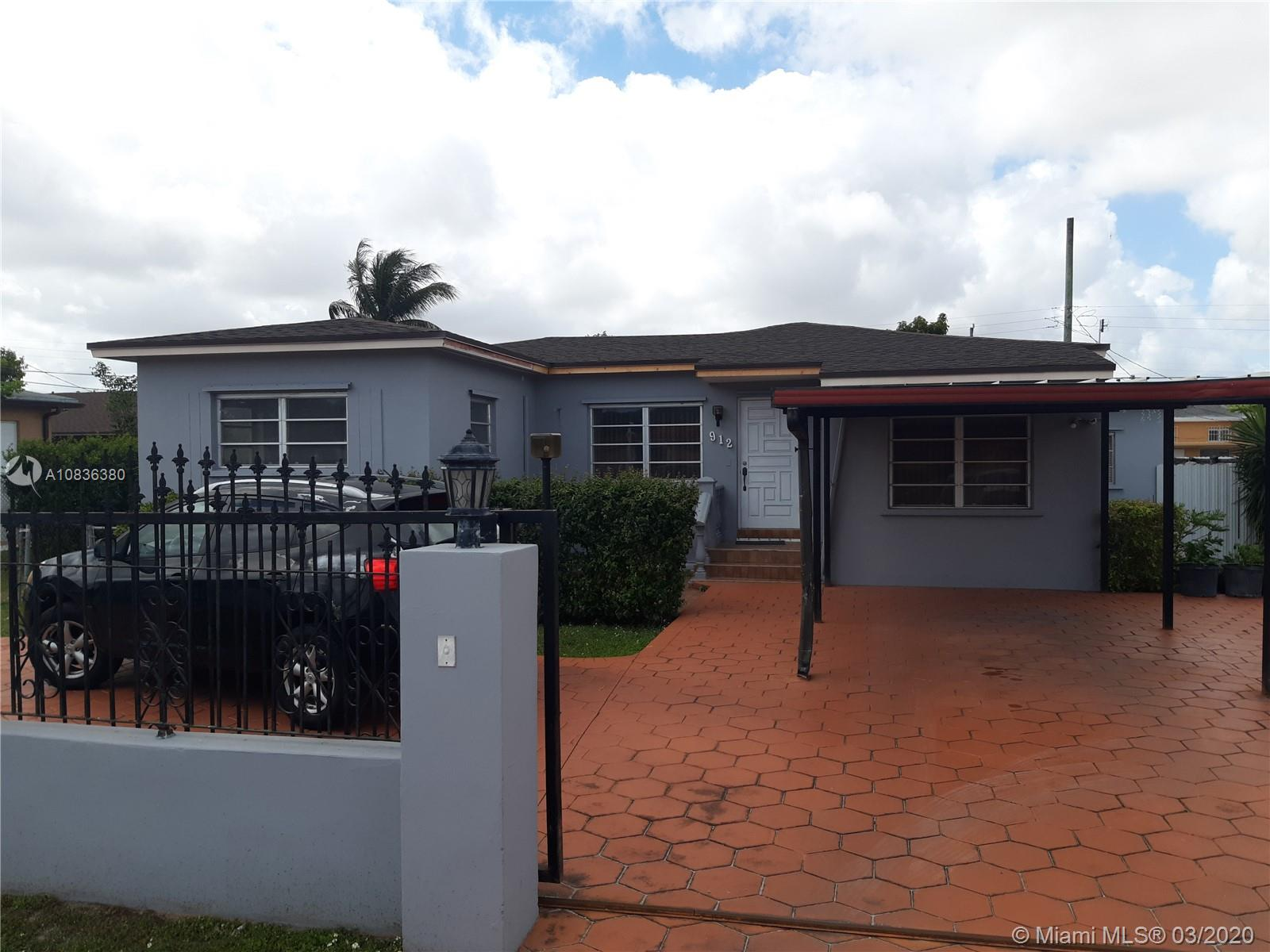 This single family home is centrally located next to the Palmetto Expressway and SW 8th ST, features a New Roof, One year old A/C and recently updated Kitchen and Baths. There is 1 bedroom/1 bath with a separate entrance (currently leased). The property has an exterior laundry room, fenced backyard and gated circular driveway with space for up to 4 cars, as well as additional spaces for parking in the front, next to the Avenue. Easy access to the 826 and 836 Expressways and Miami International Airport is only 10 minutes away.
