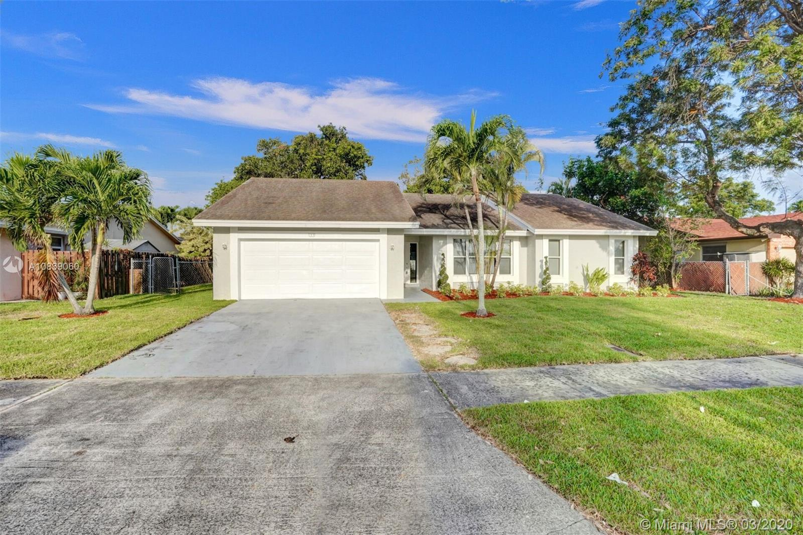BEAUTIFUL FULLY REMODELED 3/2 WITH SPACIOUS 2 CAR GARAGE HOME IN THE HEART OF DEERFIELD BEACH! PERFECT TURN-KEY STARTER HOME OR VACATION RENTAL OPPORTUNITY! BRAND NEW 2020 FLAT ROOF, 2012 RHEEM A/C UNIT, NEW BATHROOMS, SEPARATE LAUNDRY AREA WITH NEW FRONT LOAD SAMSUNG WASHER AND DRYER, NEW CUSTOM KITCHEN WITH HIGH END EUROPEAN CABINETS, QUARTZ COUNTER-TOP AND BRAND NEW STAINLESS STEEL APPLIANCES, RECESSED LIGHTING THROUGHOUT, VERY LARGE BACKYARD NICE FOR ENTERTAINMENT OR TO BUILD A POOL, NEW GRASS AND PLANS WITH IRRIGATION SYSTEM, VERY LARGE AND SPACIOUS DRIVEWAY, FRESHLY PAINTED INSIDE/OUT... MINUTES FROM SCHOOLS, BEACH, SHOPPING PLAZAS ETC.. HURRY THIS WONT LAST LONG!!