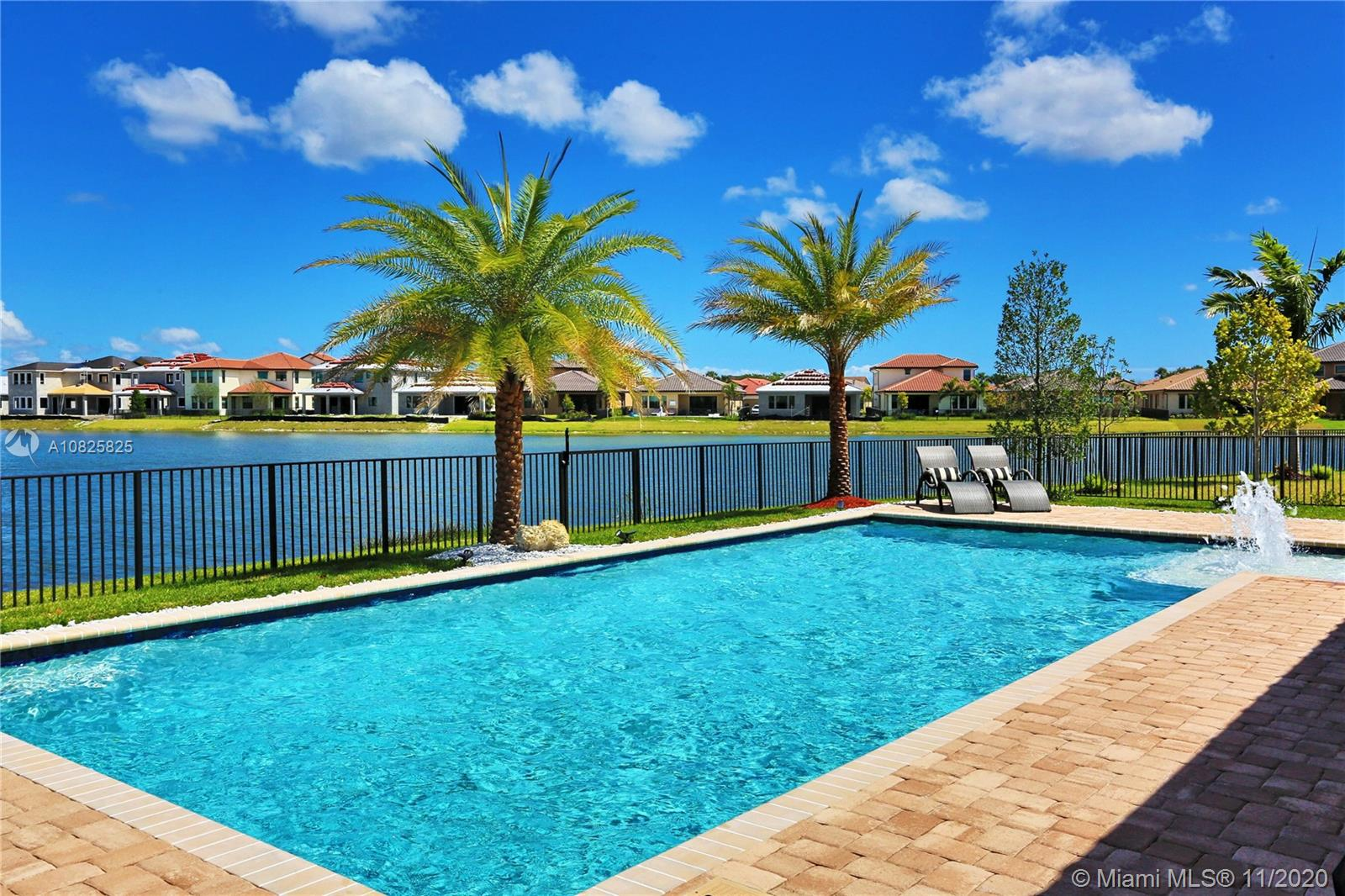 "Astounding Parkland Bay 2-story Sycamore C Italianate lakefront heated pool, featuring 5-bedrooms, 5-bathrooms, split 3-car garages, on a quiet cul-de-sac, Lennar's Wi-Fi CERTIFIED™ with Everything's Included® package. Rich and extravagant features, stunning, lavish and comfortable living. Mediterranean courtyard entrance off the formal living room, sophisticated butler's pantry, 1-bedroom and cabana bath on the ground floor, walk-in closets in each bedrooms and a huge laundry room. Over $245K in finer finishes, exceptional kitchen cabinets and built-ins, interior décors, high ceilings curtains, lighting fixtures, spectacular wood stairway with a fine stone accent wall, Italian white 24"" tiles downstairs and warm brown wood-laminate floorings upstairs. ""A"" rated schools and HOA at $260/mo."