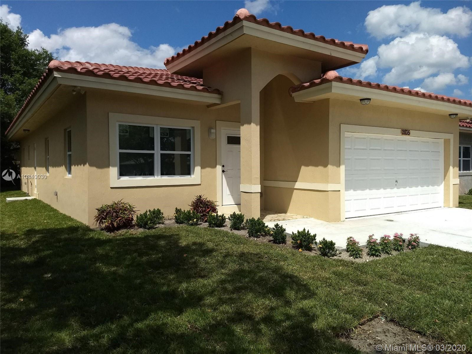 """brand new construction,3 bedrooms,2 baths,huge living room and dining room,2 car garage,2030 square feet,9 foot ceilings,quartz kitchen counter with Stainless steel appliances,32"""" rectified ceramic tiles throughout entirehouse and much more!!"""