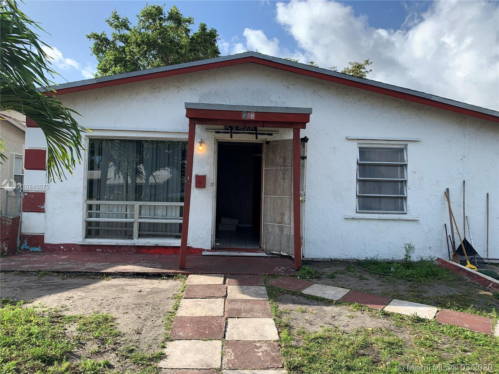 Looking for a Great Deal? This home needs TLC, mostly cosmetic repairs. Has great bones! Bring your tool belt and let your imagination run wild. The fenced in yard has plenty of room for a swimming pool/spa & shed. The neighborhood supports the improvements. The price is set according to the work that needs to be done. Similar 4 bedroom properties redone in this neighborhood recently sold between $325k-$365k. This house is only a few blocks from one of the largest new shopping centers in South Florida.  Parks and shopping are close by. No HOA. A must see. Don't let this excellent opportunity pass you by!
