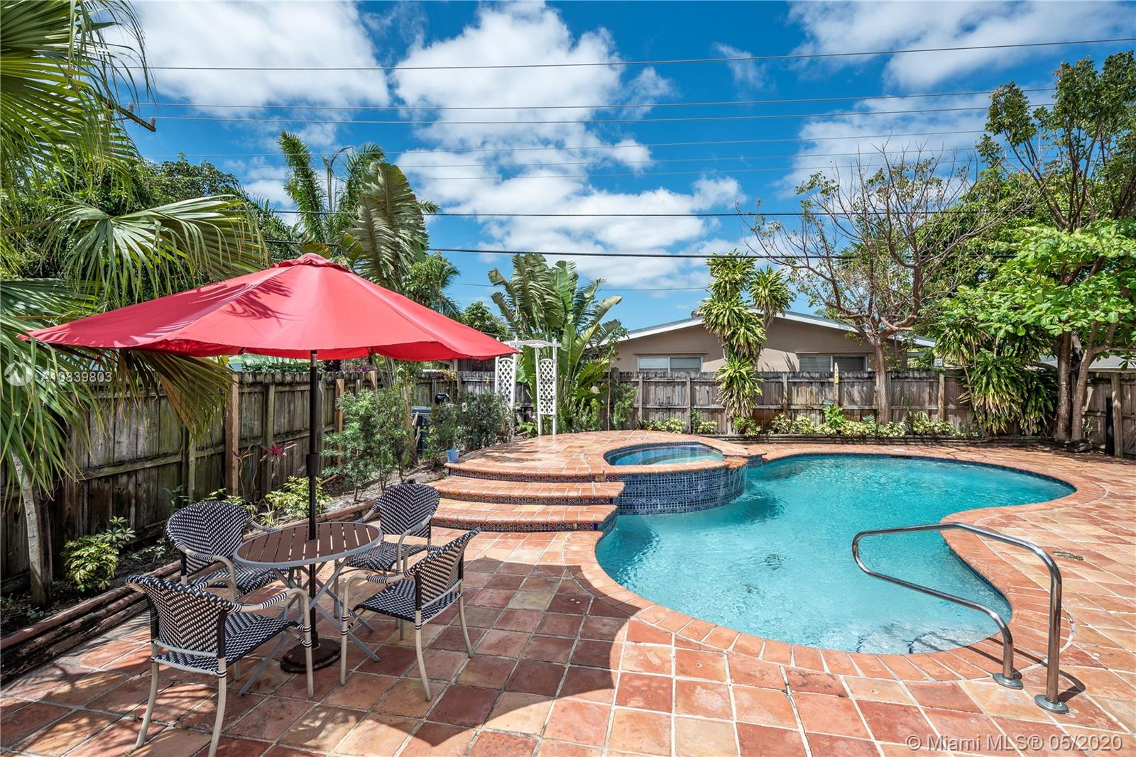3D Tour Available! This rare North Andrews Garden pool and spa home is well-priced and ready for it's new owner.  Sitting on an oversized corner lot, living area is bigger than tax roll!.  All total square footage has been converted to living area.  Property has had some recent renovations and updates, including partial re-roof, and is move in ready!  Home boasts a large laundry room and there is also still a lot of flexibility in the current floor plan to make a nice master suite and/or in-law suite as 3rd bedroom has separate entrance.  Well sprinklers help keep the water bill down.  With a strong offer, seller will consider some credit at closing toward exterior painting and impact windows.  Check out the 3D Tour!  https://my.matterport.com/show/?m=VvPcb26sSZ3&mls=1