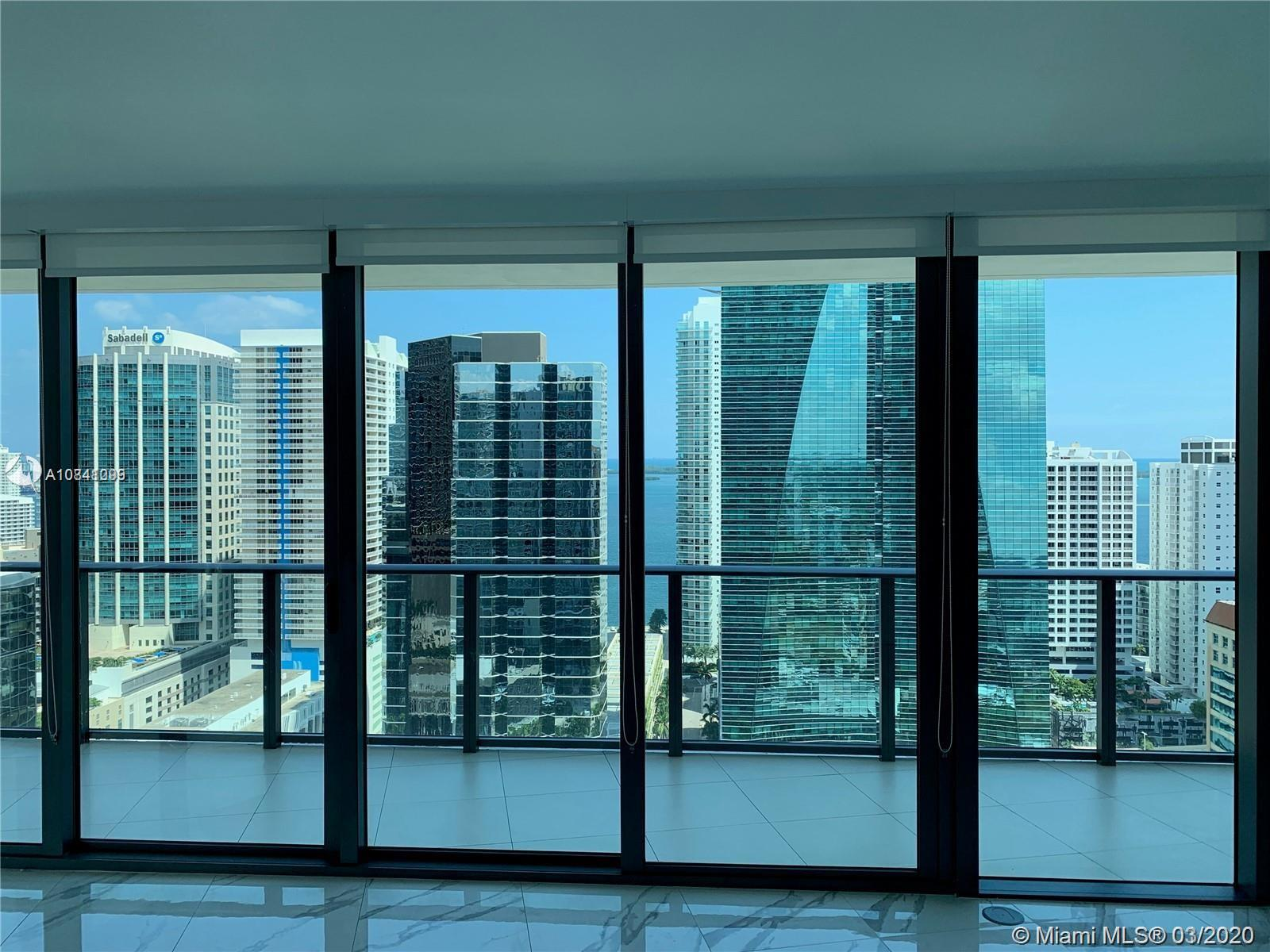 Beautiful unit at SLS Brickell, perfect location close to everything you need walking distance! Large 2 bedroom plus den with amazing water and city views! Building full of amenities, such us gym, party room, pool and much more!