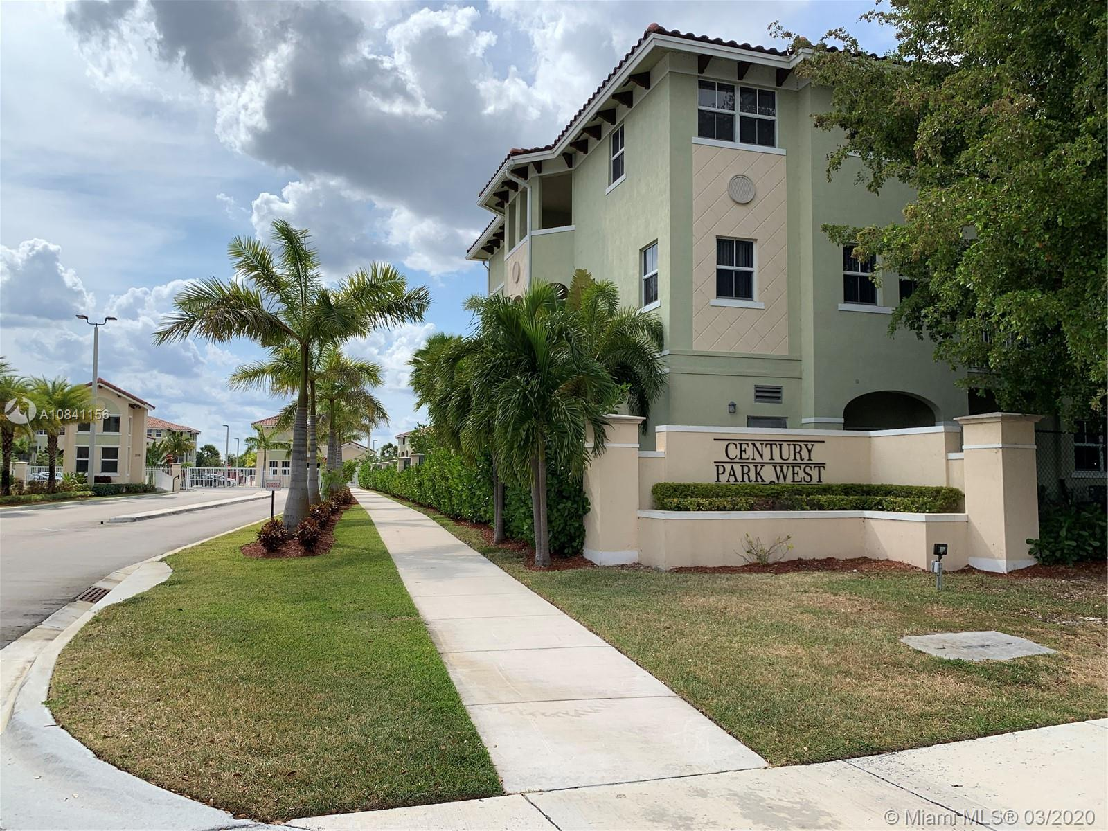 Two floors brand new Luxury Villa at Century Park West Gated Community. Modern & spacious 2 x 2 1/2 in the 2 floors. New appliances, A/C, Dishwasher & electrical water heater. Features include: formal living and dining. Masters room with walking closet, New Ceramic floor and vinyl wood floor. Two parking spaces assigned and additional available. GREAT LOCATION!!! Excellent neighborhood & centrally located near the airport, schools, shops and the expressway..!!