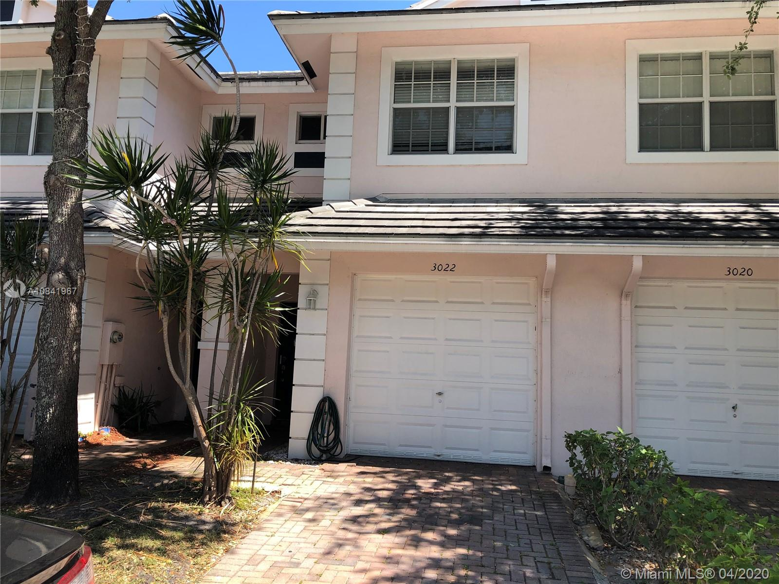 Elegant 2bed/2.5bath + 1 car attached garage townhouse conveniently located in a well maintained, family oriented community w/easy access to downtown Fort Lauderdale and major highways just minutes to I95. Washer and dryer inside, cooks will appreciate the open kitchen with attractive cabinetry and counter tops & stainless steel appliances, adjacent family room provides ample room for relaxing and entertaining, large master suite, Jack and Jill bathroom, Large walk-in closet provides ample storage, large bonus room upstairs with two master suites with walk-in closets. easy to add a third bedroom in place of the current space, HURRICANE IMPACT GLASS WINDOWS THROUGHOUT! Community is pet friendly, has a nice community pool, playground and a low HOA fees, 2 pets allowed.