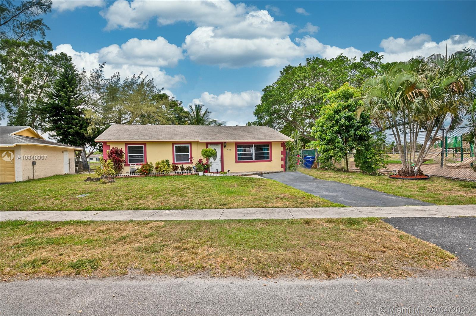 Beautiful 3 BED/2 BATH single family home in desired North Lauderdale Village community.  Great access to main streets and close to major highways, shopping stores, and Sawgrass mall.  Community is conveniently located next to a park with plenty of amenities and basketball courts.  Enjoy your kitchen overlooking the canal.  Great for entertainment and enjoy fishing right from your backyard. This home features kitchen with hardwood cabinets, granite counter tops, and stainless steel appliances.  This home is an all age welcome community, no restrictions, pets welcome, no HOA approval. FHA approved! bring your best offers, it won't last!