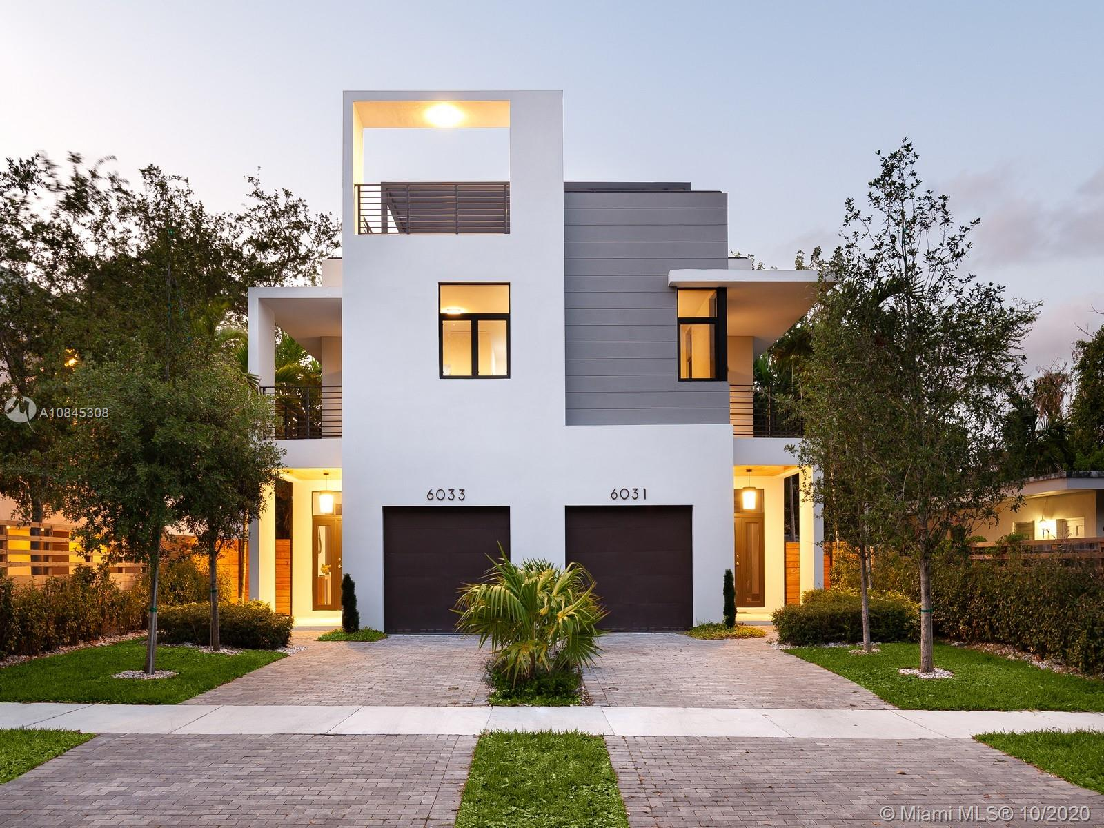Brand New Luxury Townhome in the heart of S Miami. Find modern design w/luxury finishes in this newly constructed & first of its kind property in SOMI w/no association fees. A 2-story Townhome w/remarkable roof top terr, feat. 4 Bd & 4/1 & a pool. Residents can find an open concept flr plan that maximizes large living spaces, elegant designer finishes throughout: en-suite bathrms, porcelain flrs, gourmet chef's kit w/ waterfall island quartz countertop & stainless-steel built-in appl. Fully equip w/Smart home integration, efficient a/c & heating, camera's & security system, w/speakers incl. Impressive outdr living areas w/covered patio & balcony, plunge pool, & roof top terr w/outdr kit hook up. Extensively built w/entertainment in mind. Near S Miami downtwn, restaurants, shops & dining