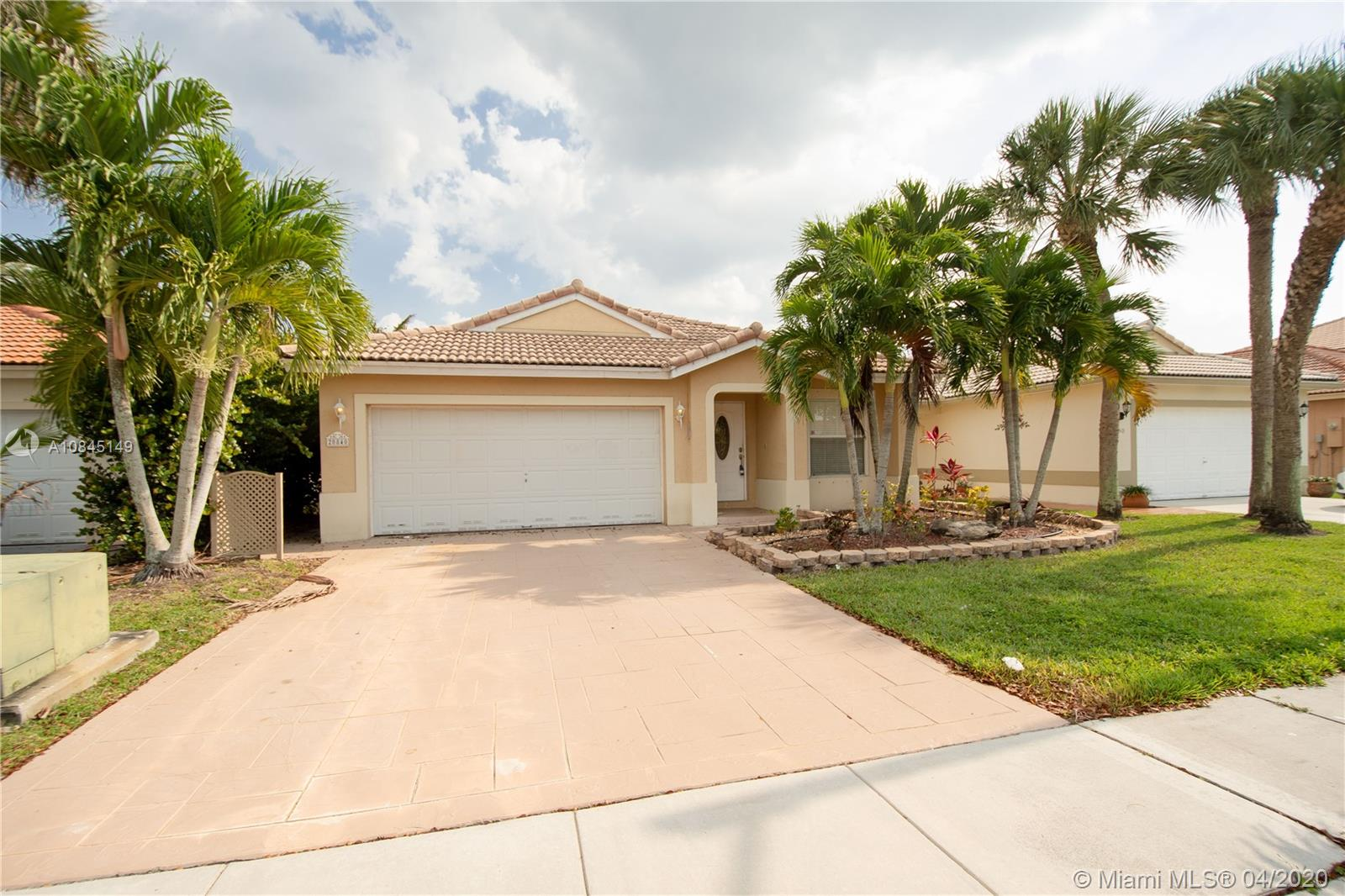 LOCATION..LOCATION..MINUTES TO I-75, I-595, RTE 27...THIS WELL MAINTAINED 3 B/R, 2 BATH, SINGLE STORY HOME IS LOCATED IN A GATED COMMUNITY IN WESTERN PEMBROKE PINES IN A PARK LIKE SETTING, RECREATION AREA, COMMUNITY POOL...NEWER A/C, COMPRESSOR 2018,AIR HANDLER 2016..WOOD FLOORS..OVERSIZED GARAGE HAS A WORK SINK AND ROOM FOR STORAGE..HOA FEES INCLUDE TV AND INTERNET SERVICE..ABUNDANT LOCAL SHOPPING... A SHORT DISTANCE FROM THE PEMBROKE PINES REGIONAL MALL....CLOSE TO SCHOOLS AND HOUSES OF WORSHIP.