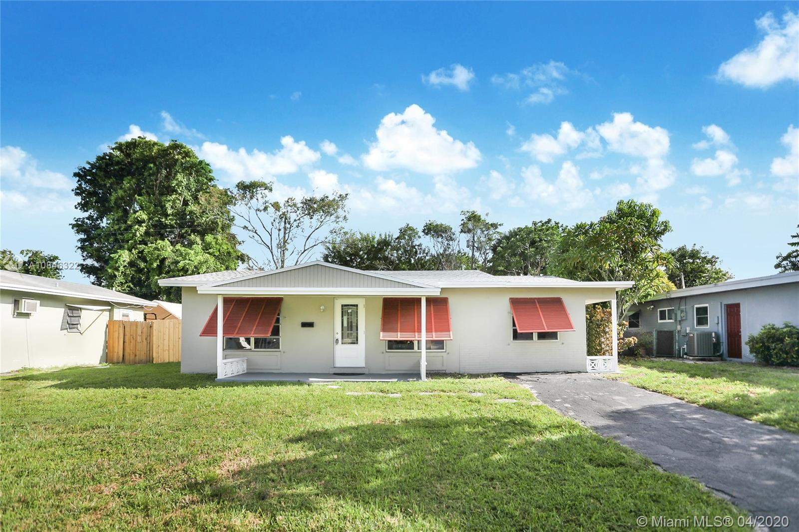 BEAUTIFULLY FULLY REMODELED 3/2 HOME IN THE HEART OF OAKLAND PARK.  HOME LARGER THAN TAX ROLL (1755 SQ). PERFECT TURN-KEY STARTER HOME. HOME FEATURES ALL HURRICANE SHUTTERED WINDOWS AND IMPACT GLASS FRONT DOOR, BRAND NEW SHINGLE ROOF, CENTRAL A/C UNIT, NEW BATHROOMS, BRAND NEW WASHER AND DRYER TOWER, NEW CUSTOM KITCHEN WITH HIGH-END CABINETS, GRANITE COUNTERTOP, AND BRAND NEW STAINLESS STEEL APPLIANCES.