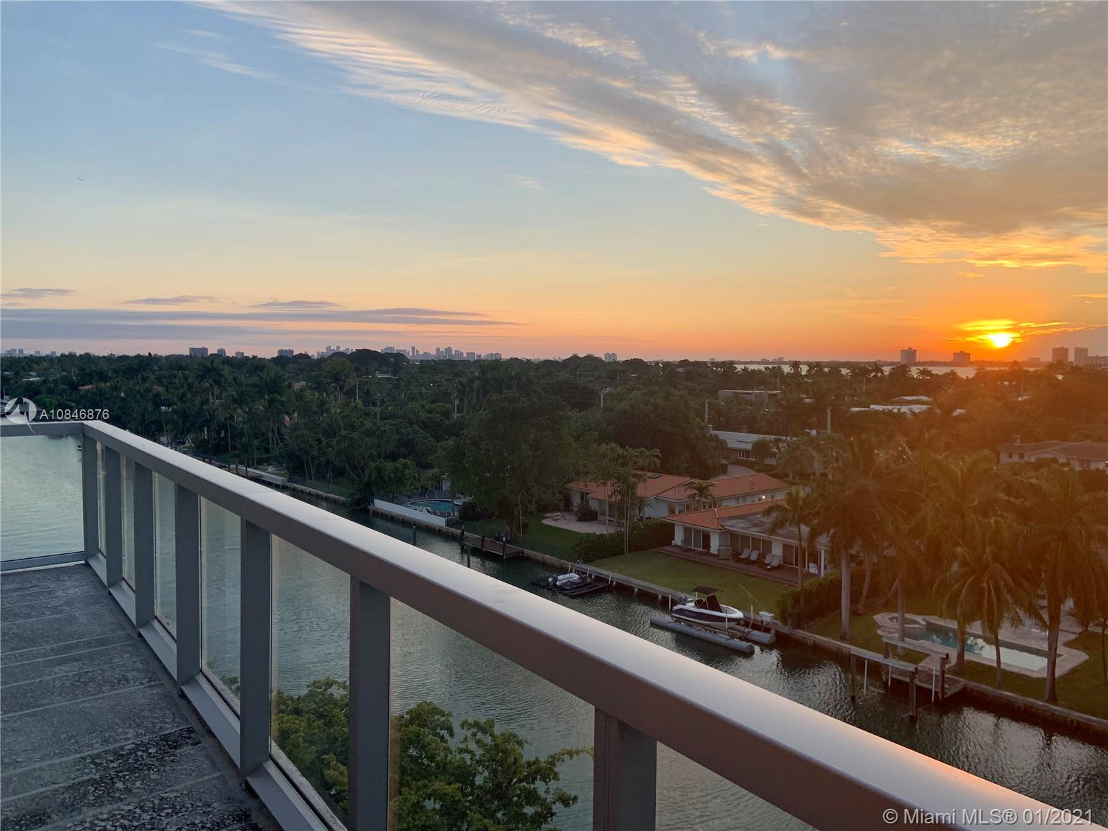 Live in one of a kind penthouse in an amazing boutique building at one of the safest neighborhoods in Florida, located a few blocks away from one of the best public schools (A+) in the Miami/Dade area. Plenty of space and sunlight, this 3beds/3baths, it has walk-in closets and an open fully equipped kitchen. Oversized corner unit looking the Biscayne Bay and the City Skyline. Enjoy boating, fishing, paddle-boarding or kayaking straight out of your backyard and finish your day contemplating breathtaking sunset views from your balcony. Heated pool, spa, and BBQ area on the rooftop with bay view. Boat docks, big storage room. Short walk to the beach,Bal Harbour shops, and restaurants. Also Available Furnished price differs.