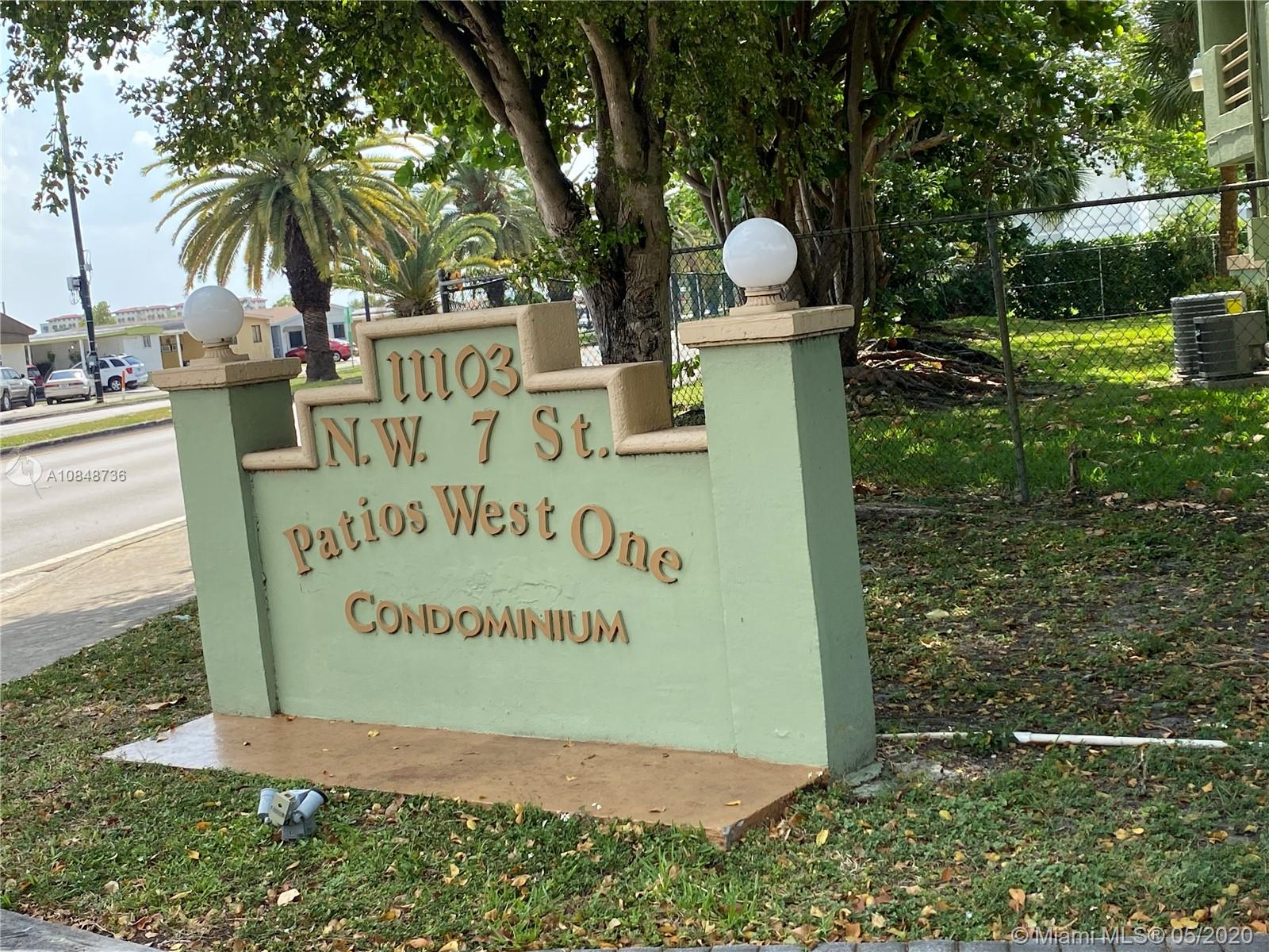 11183 NW 7th St #103-20 For Sale A10848736, FL