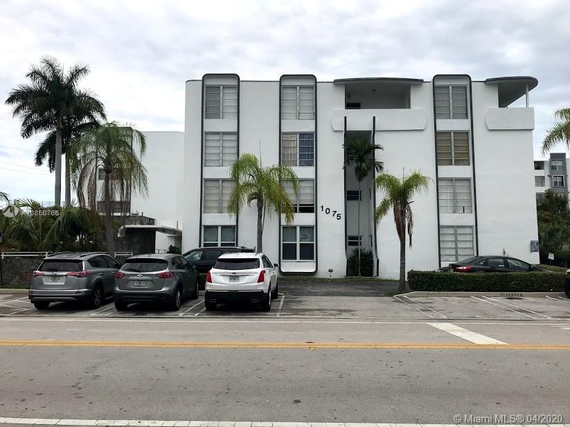 Corner Top floor with an open balcony! Bright and ample apartment partially remodeled. Tile floor throughout. Large kitchen with space for a breakfast nook. A lot of cabinets. Bathroom with newer fixtures and vanities. Walking distance to Bal Harbor Shops, restaurants, and more. A+ Elementary and Middle school.Gated complex. Swimming pool.Laundry facilities. Extra storage is available. Pest control included maintenance by the building. Guest parking. No rental restriction!!!Vacant! Easy to show! On lockbox. Hurry! won't last!