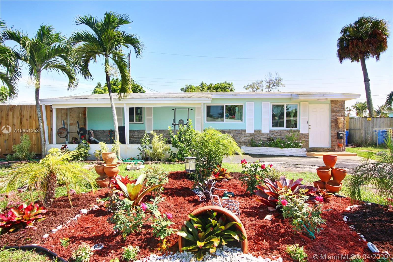 THIS BEAUTIFUL HOME IS LOCATED IN HIGHLY SOUGHT OAKLAND PARK. ALL NEW PLUMBING, HURRICANE IMPACT WINDOWS THROUGHOUT THE HOME. PROPERTY HAS ALL NEW STAINLESS STEEL APPLIANCES, FRESHLY PAINTED, AND NATURAL GAS WHICH IS PERFECT FOR HURRICANES. GORGEOUS MANGO TREES WITH A OPEN PATIO. NEARBY SHOPPING PLAZA, NEARBY SCHOOLS, AND I-95. DON'T MISS OUT. **WON'T LAST!! CONTACT ME TO SCHEDULE YOUR SHOWING.