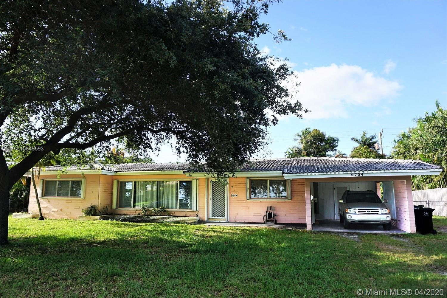 Great opportunity to own a home in Coral Ridge, one of Fort Lauderdale's most prestigious neighborhoods, with incredible potential. The property has a 504 sf family room under the main roof which can be enclosed and instantly add tremendous amount of space and VALUE! This is a Diamond in the Rough!The home features 2 bedroom, 2 bathrooms, open floor plan, vaulted ceilings, fenced back yard, 10,000+ lot, complete accordion shutter hurricane protection,  Residence is located in the Bayview Elementary school district, 1 mile from the famous Fort Lauderdale beach, walking distance to Fort Lauderdale's best restaurants, shopping and entertainment.