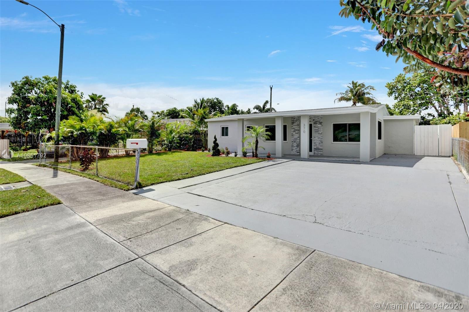 BEAUTIFULLY FULLY REMODELED 4/2 HOME WITH LARGE POOL IN THE HEART OF OAKLAND PARK! PERFECT TURN-KEY STARTER HOME OR VACATION RENTAL OPPORTUNITY! HOME FEATURES ALL HURRICANE IMPACT WINDOWS AND DOORS, BRAND NEW 2020 SHINGLE ROOF, 2013 A/C UNIT, NEW BATHROOMS, BRAND NEW WHIRLPOOL WASHER AND DRYER , NEW SPRINKLERS SYSTEM WITH NEW GRASS. NEW CUSTOM KITCHEN WITH HIGH END EUROPEAN CABINETS, QUARTZ COUNTERTOP AND BRAND NEW STAINLESS STEEL APPLIANCES, RECESSED LIGHTING THROUGHOUT, BACKYARD WITH LARGE POOL NICE FOR ENTERTAIMENT, SPACIOUS DRIVEWAY, FRESHLY PAINTED INSIDE/OUT... MINUTES FROM SCHOOLS, BEACH, SHOPPING PLAZAS ETC.. HURRY THIS WONT LAST LONG!!