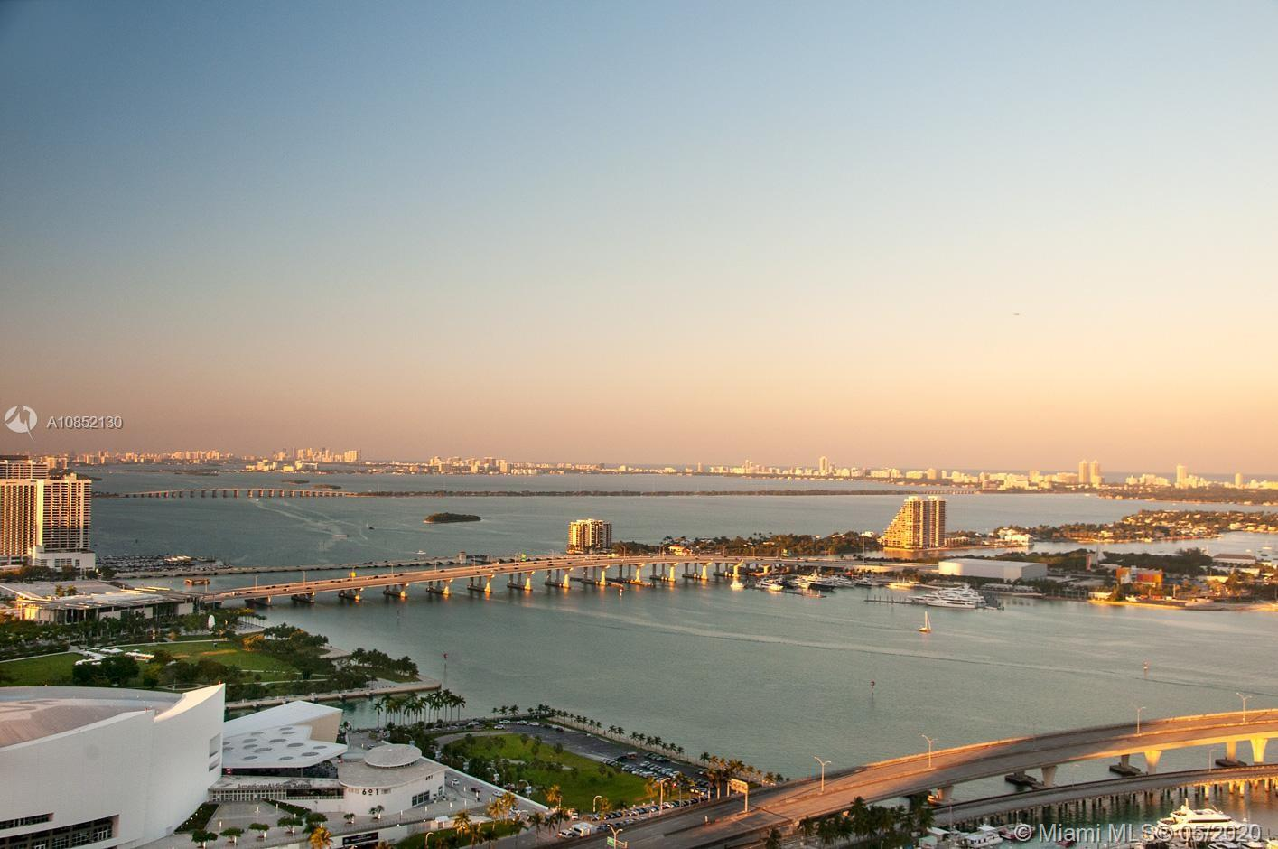 GREAT OPPORTUNITY FOR INVESTORS. UNIT RENTED UNTIL MARCH 2021 AT $2,850.  IMPRESSIVE OPEN BAY VIEWS IN PREMIUM AND DESIRED AREA. 2 BEDROOMS 2 BATHROOMS . BEAUTIFUL LIKE-WOOD PORCELAIN FLOORS THROUGHOUT. AMAZING KITCHEN. STUNNING DIRECT VIEWS TO BAY AND THE PORT OF MIAMI 1 ASSIGNED PARKING SPACE.  SELLER MOTIVATED!!
