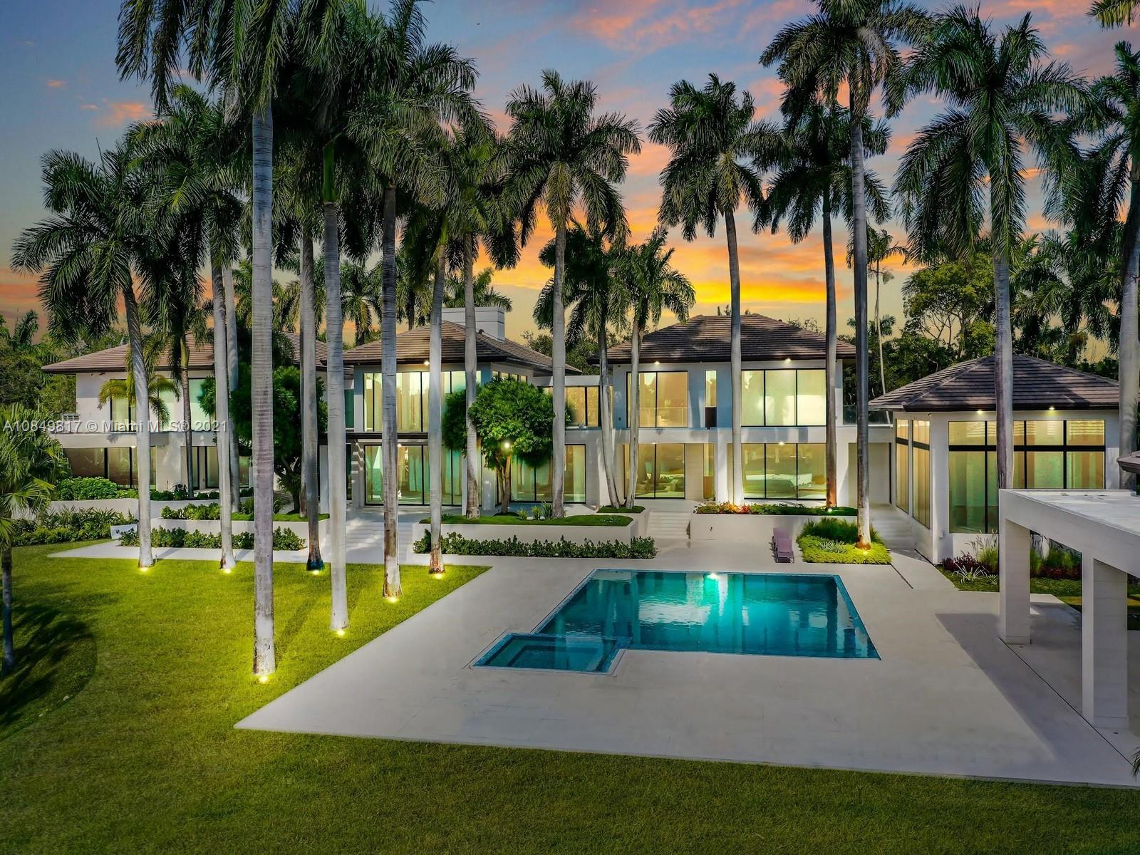 THIS SPECTACULAR ESTATE IN THE EXCLUSIVE GATED COMMUNITY OF GABLES ESTATES, OFFERS 22,374 SQFT, ON 87,125 SQFT LOT, 8 BEDROOMS,14.5 BATHROOMS,345 FT. EXPANDED LAGOON WATERVIEW.ELEGANT,MODERN SOPHISTICATED ARCHITECTURE W/AN IMPRESSIVE IN LARGE SCALE HOME DESIGNED W/THE FINEST IMPORTED FINISHES. PYRGON, MARBLE & WOOD FLOORS.CARPORT,WATERFALL,POOLS LEADS TO THE IMPRESSIVE  FOYER & LIVING ROOM DOUBLE VOLUME CEILINGS. THIS SMART HOME CONTROL SYSTEM,THE LUTRON LIGHTING,AC,TVs,MUSIC,ECT. A WATERVIEW MASTER SUITE W/ PRIVATE OFFICE,HIS & HERS MARMOL BATHROOMS,CUSTOM-BUILT CLOSETS,LARGE BALCONY W/ ITALIAN GLASS RAILING OVERLOOKING THE GUEST HOUSE,POOL,GYM. PROFESSIONAL KITCHEN W/ TOP OF THE LINE WOLF,MIELE & SUBZERO APPLIANCES,5,000 BOTTLE WINE CELLAR,SUMMER KITCHEN,THEATER,SAUNA, MASSAGE ROOM