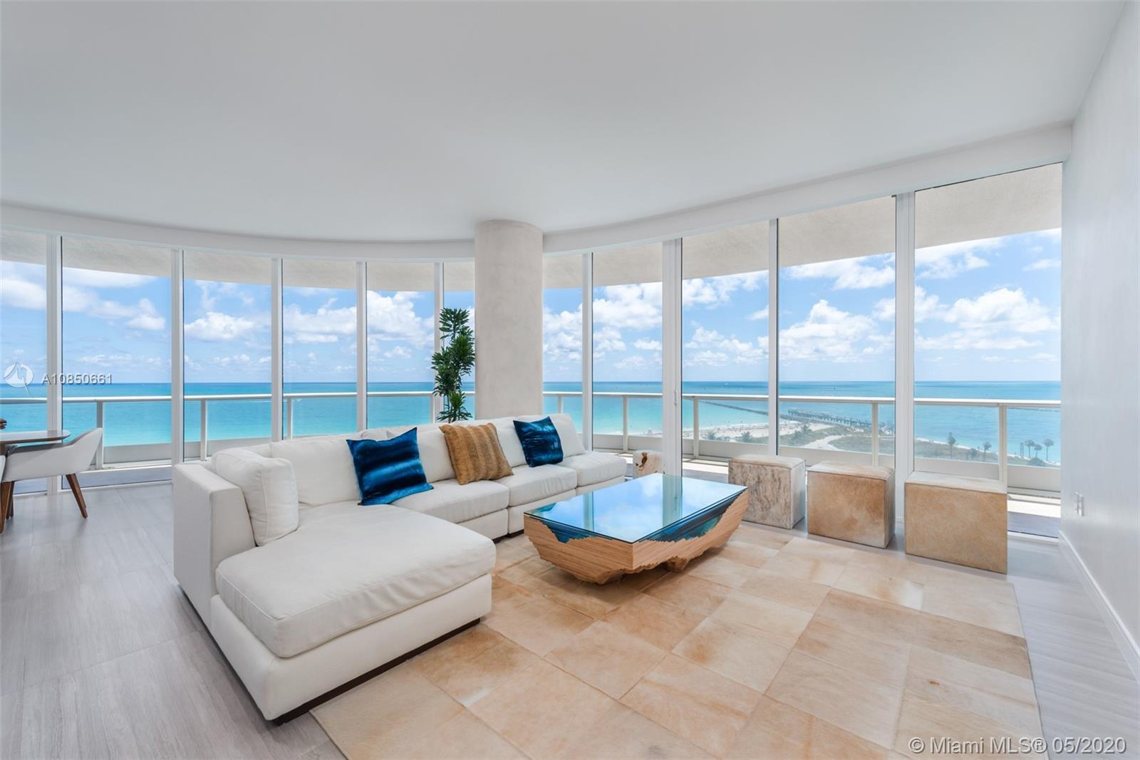 Enjoy the best views in Miami Beach from this coveted 06 line at Continuum South Tower. This 3 bed, 3.5 bath unit was recently renovated and furnished with exquisite taste. With over 13 acres of land and exclusive resort-style amenities, Continuum South Beach ranks top among South Florida's luxury condominiums. Residents have access to a full-service beach club, private oceanside restaurant, resort-style spa and fitness center, and much more.