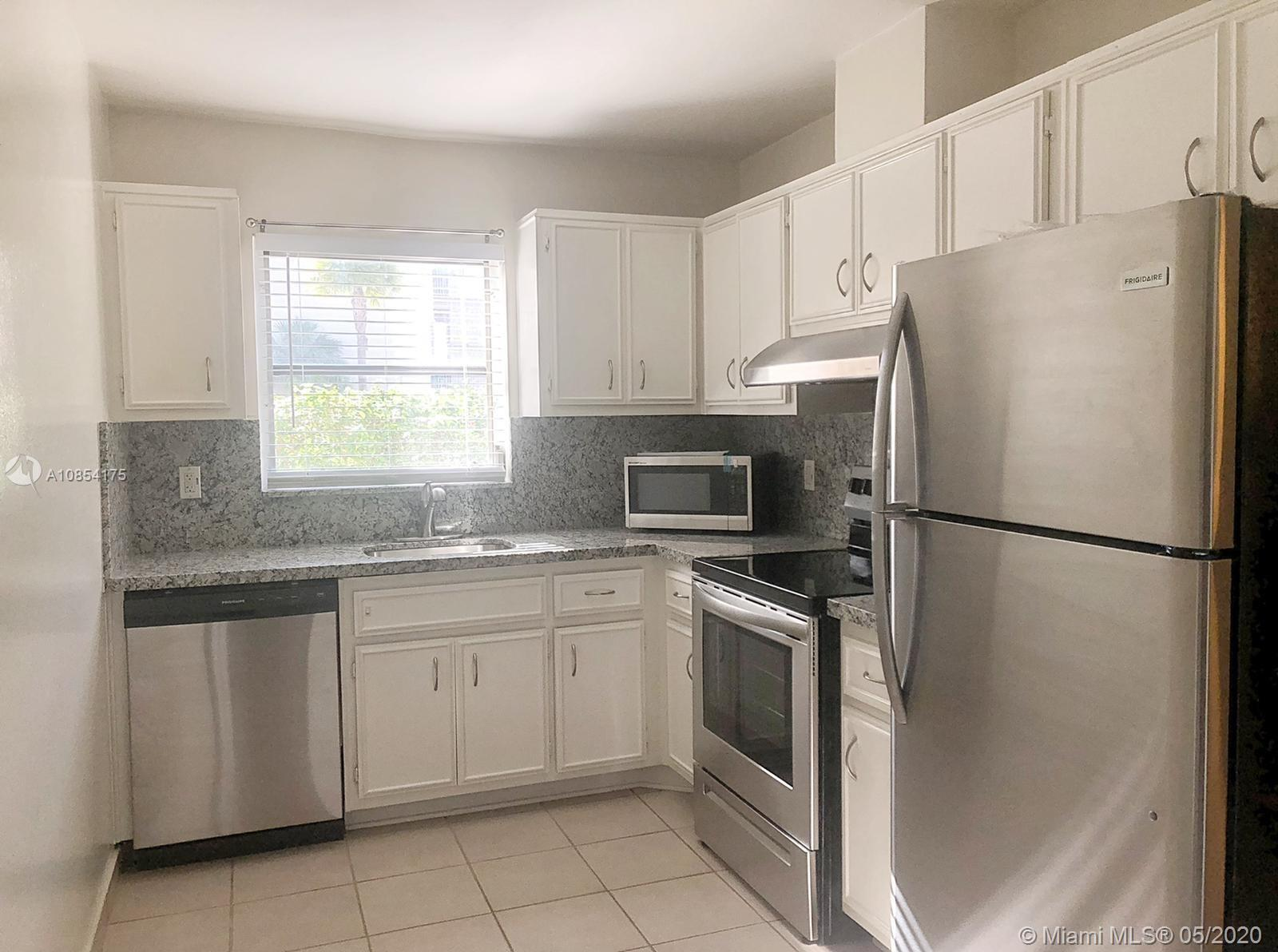 Nicely partially remodeled 1 / 1.5 unit in a well kept gated community. Unit was recently remodeled and features new stainless steel appliances, granite counter tops, new modern white window treatment, new light fixtures, new laminate wood floors, new faucet hardware, AC less than 2 years old, and much more. Enjoy an array of amenities such as pool, Jacuzzi, fitness center, tennis courts, club house, health spa, high-speed WiFi in all common areas, and more. Water and Basic cable are included in rent. This unit is centrally located near Downtown Dadeland, Baptist Hospital, Dadeland Mall, Miami Metro, SR 826 (Palmetto), and public transportation.