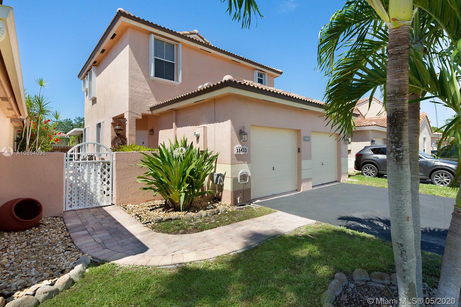Amazing find in the community of Dimension North at Chapel Trail! Under 10 minutes away from top rated public schools from elementary through high school. This home boasts stunning marble flooring in common living spaces downstairs and laminated flooring in bedrooms upstairs. The kitchen has been updated with mocha cabinets and modern silver hardware, granite counter tops and glass mosaic tile backsplash, double basin sink, faucet and appliances including a wine cooler, all stainless-steel. The half bathroom downstairs is also nicely updated. There is plenty of space for outdoor activities and gatherings in this fully paved, bamboo fenced back yard having a raised deck, pergola and cozy screened patio. New roof, accordion shutters on all windows, water heater and dryer! Don't miss out.