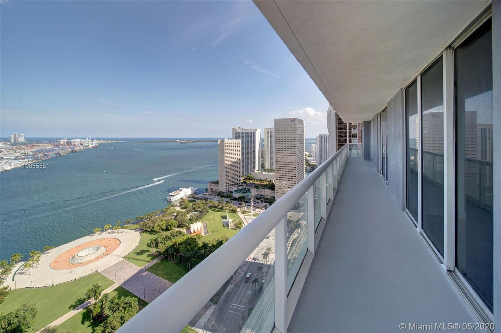 Live in the Heart of the Magic City!! Located right in the middle of Miami's exciting nightlife, this building offers the perfect place to call home. Enjoy stunning sunrise views of the crystal South Florida waters from the oversized balcony in the sky.  Corner unit floor plan design proves an ideal layout for comfortable, ample living spaces in this modern, updated 3/2.  Natural light beams throughout the unit making every angle the perfect view.  Premier building with resort style amenities including a spectacular pool and patio area, full service professional give including yoga and pilates!  A stone's throw from amazing restaurants, American Arena, Opera House, Beaches and the airport.