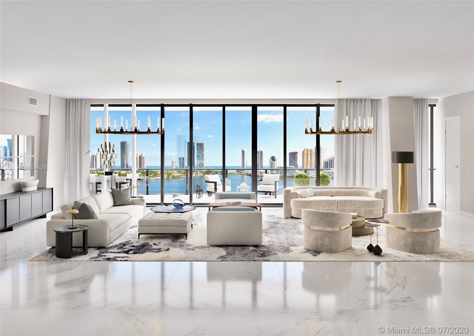 Nothing speaks luxury like living on a Private Island. Introducing Residence #908 in the highly desirable North Tower at Privé. This spacious flow-through 4 bedroom, 6 bathroom residence features unobstructed bay and Atlantic Ocean water views from every angle. The unit has been updated with tile throughout, custom built-out closets and window treatments. Privé at Island Estates offers its residents an exclusive way of living with over 70,000 SqFt of world class exterior and interior social spaces. Amenities such as a two-story gym / spa, private marina, in-residence room service, tennis court, car wash, guest suites and more. Only minutes away from the exclusive shops at Bal Harbour, Aventura Mall, and Sunny Isles Beach. 3D Tour: https://bit.ly/Prive908N