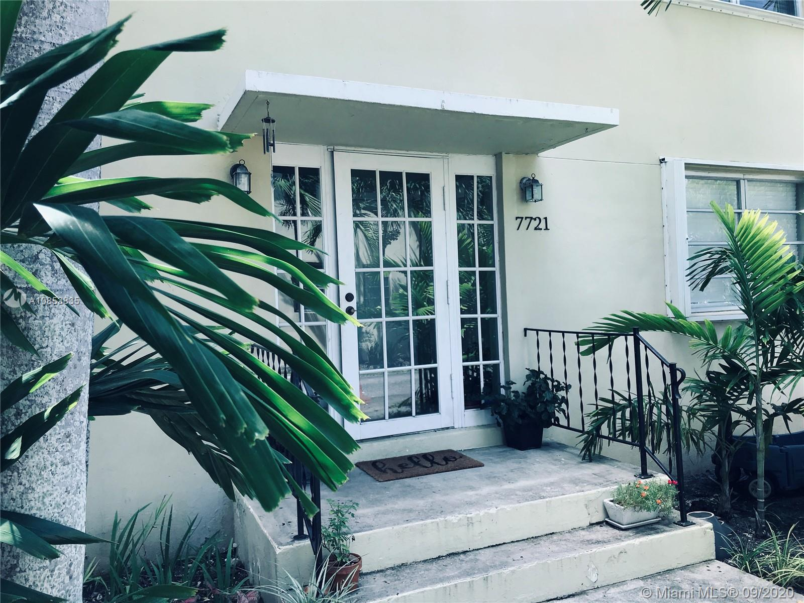 Very special offering! This condo in South Miami has it all! Its many upgrades include: custom cabinetry, Titan water heater, Trane A/C, updated electric panel, W/D, custom closets, polished hardwood floors, alarm system, underground wiring, hurricane shutters, home warranty plan.  Also comes w/assigned parking, low maintenance, view of pool & gardens. Blocks from all that SOMI offers. Great schools nearby in neighborhood rated in top 10 in S FL communities. EZ to show!