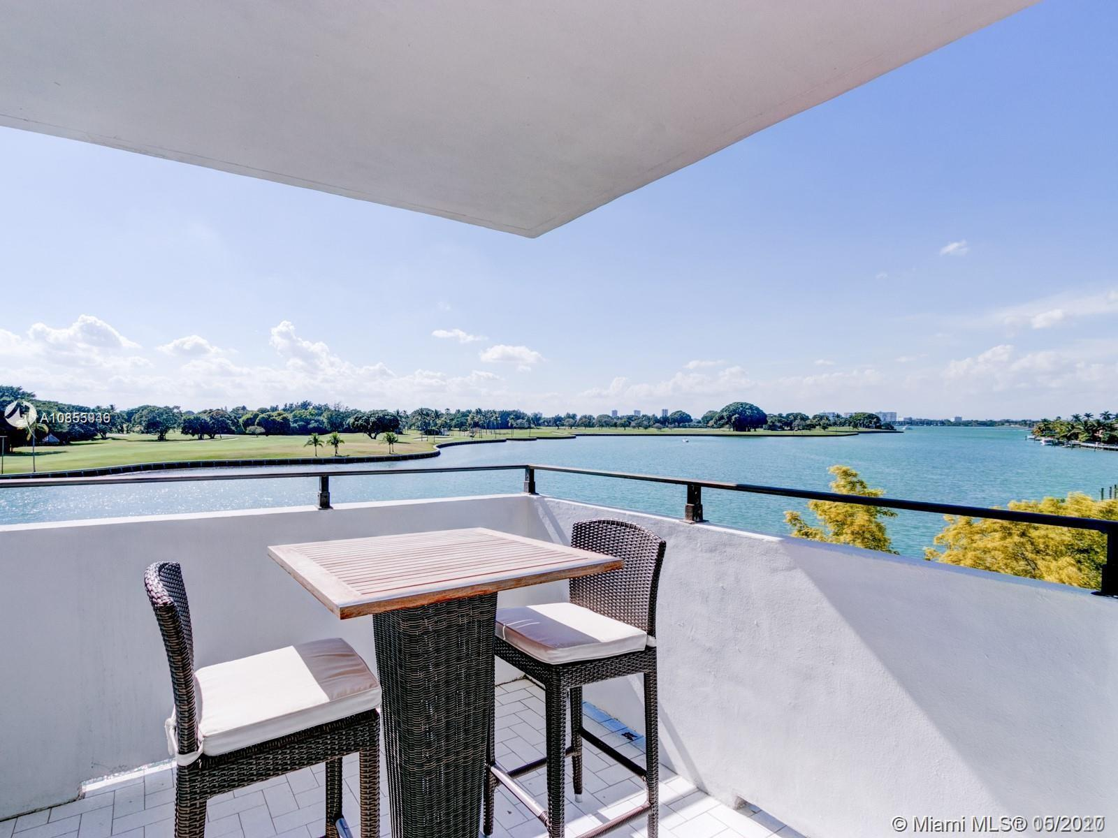 UNOBSTRUCTED WATER VIEWS !!!  BEAUTIFUL  1500 SQF, 2/2 WATER VIEWS FROM EVERY ROOM IN THIS SPACIOUS CORNER UNIT ON THE SOUTHERN TIP OF BAY HARBOR ISLANDS! LOCATED IN WELL MAINTAINED, BOUTIQUE BUILDING WITH ONLY 17 UNITS! UNIT FEATURES INCLUDE OPEN KITCHEN OFF LIVING ROOM, PRIVATE TERRACE, AND CUSTOM CLOSETS. UNIT HAS BEEN TOTALLY REMODELED AND IS READY FOR A NEW TOWNER  TO MOVE IN! YOU WILL LOVE TO SEAT ON YOUR TERRACE AND ENJOY THE BEAUTIFUL SUNSETS OVERLOOKING THE SERENE WATER ON THE INDIAN CREEK GOLF COURSE .WALKING DISTANCE TO RUTH K BROAD BAY HARBOR K -8 SCHOOL. OWNER MOTIVATED