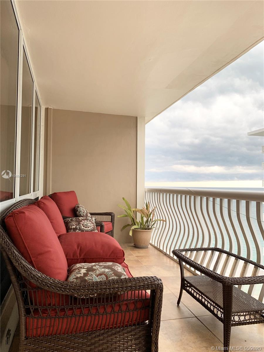 RARE OPPORTUNITY – OCEAN FRONT - HIGH FLOOR – FULLY RENOVATED – RARE IMPACT GLASSS UNIT – PANORAMIC OCEAN AND CITY VIEWS – 2 BEDROOM/2 BATHROOM CONVERTIBLE 3 BEDROOM – FULL AMENITY BUILDING - Beautifully renovated large unit with Italian porcelain tile throughout. Spacious master bedroom with sitting area, walk-in closets, en suite large bathroom. Spacious second bedroom with custom built-ins, Queen Murphy Bed, and walk-in closets. Kitchen is appointed with SS appliances and granite countertops. Rare Washer/Dryer in unit. Building amenities include a Rooftop Pool, Gym, Tennis Court, Ocean Front Patio BBQ Area, Bocce Ball, Library, Card Room, Party Room, Bar/Lounge Area, Art/Dance Studio, Adult Game Room, Youth Game Room, Women's Lounge and Men's Lounge. Lobby attended 24/7 with security.